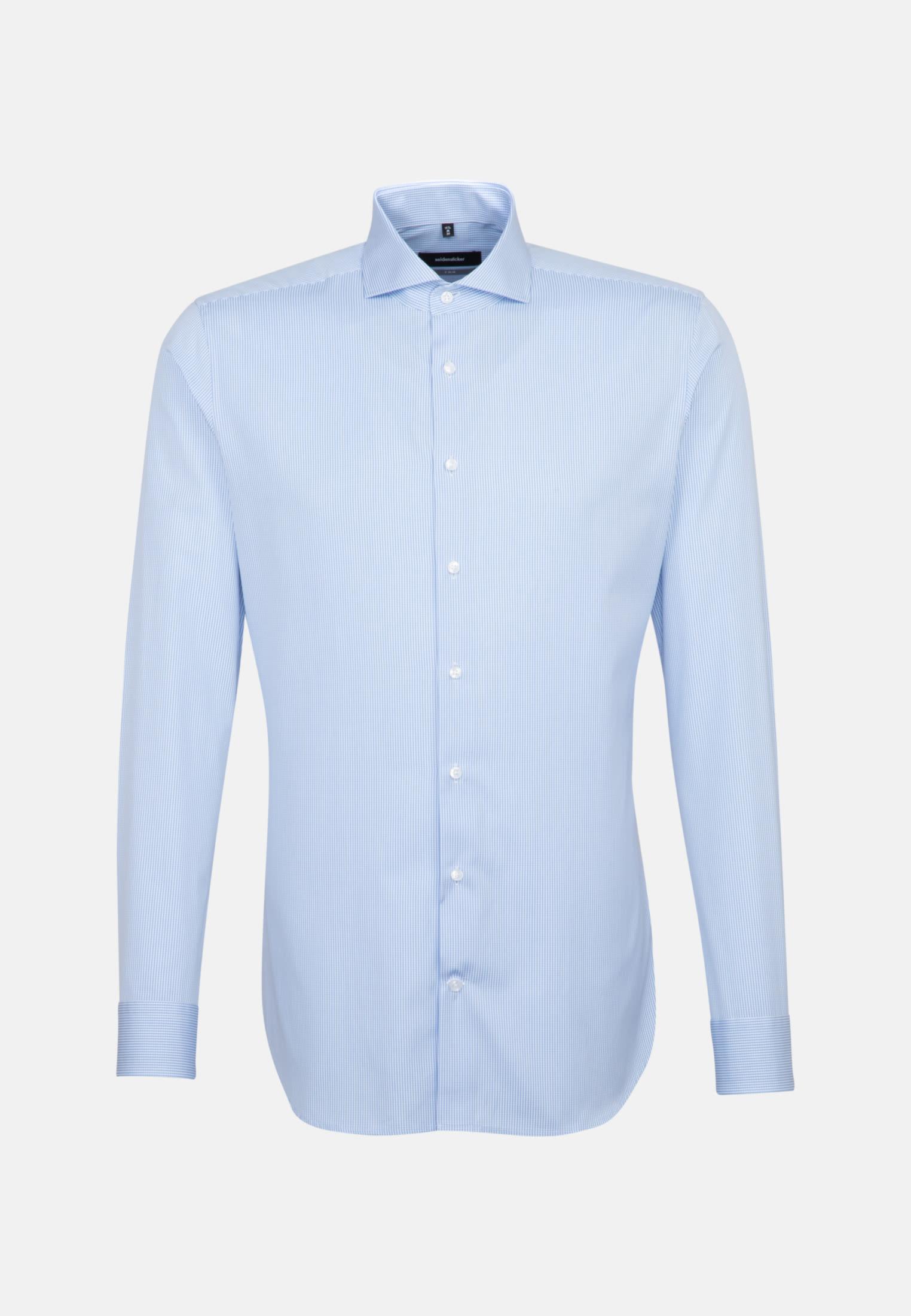 Easy-iron Poplin Business Shirt in X-Slim with Shark Collar in Light blue |  Seidensticker Onlineshop