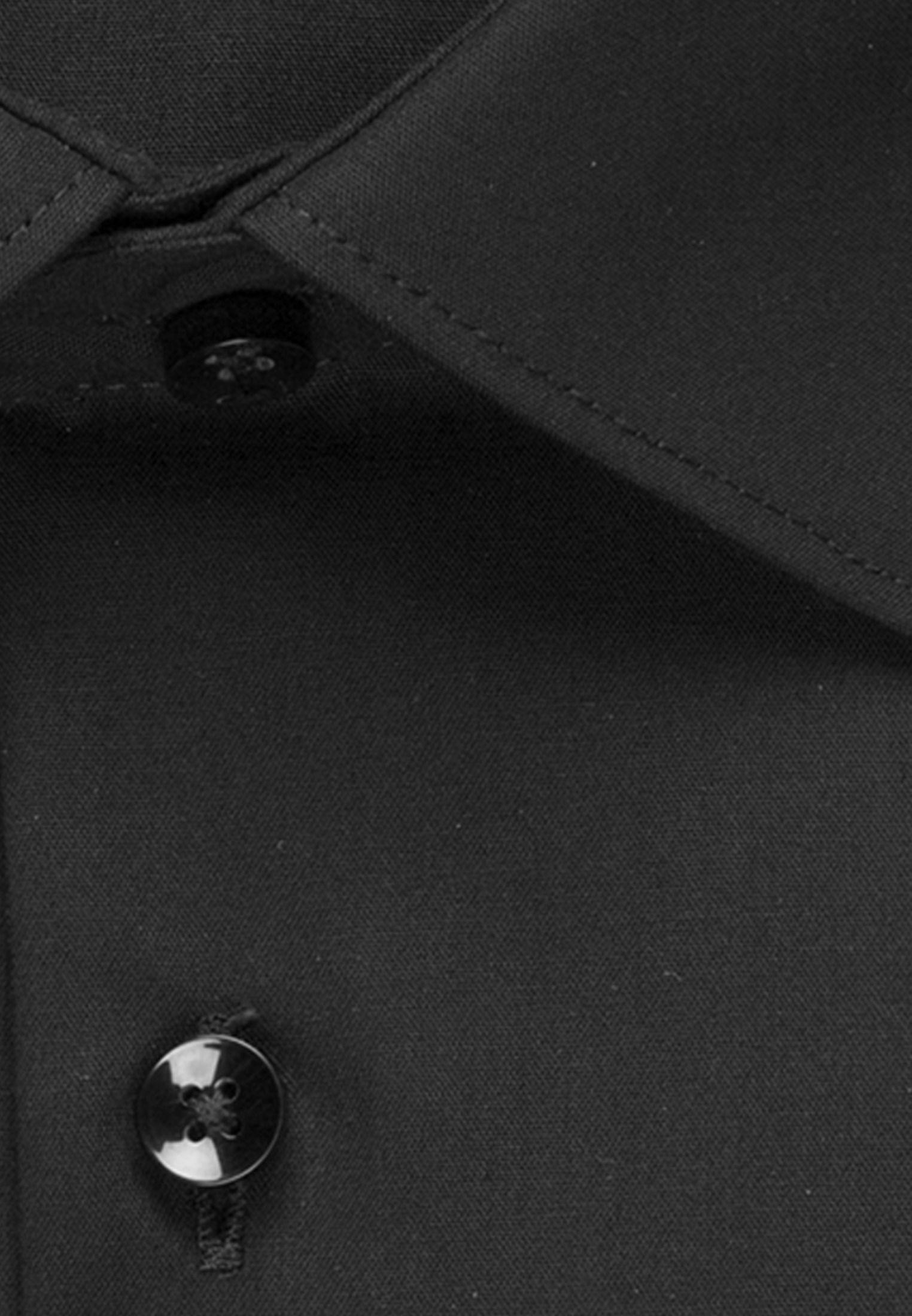 Bügelfreies Chambray Business Hemd in X-Slim mit Kentkragen in Schwarz |  Seidensticker Onlineshop