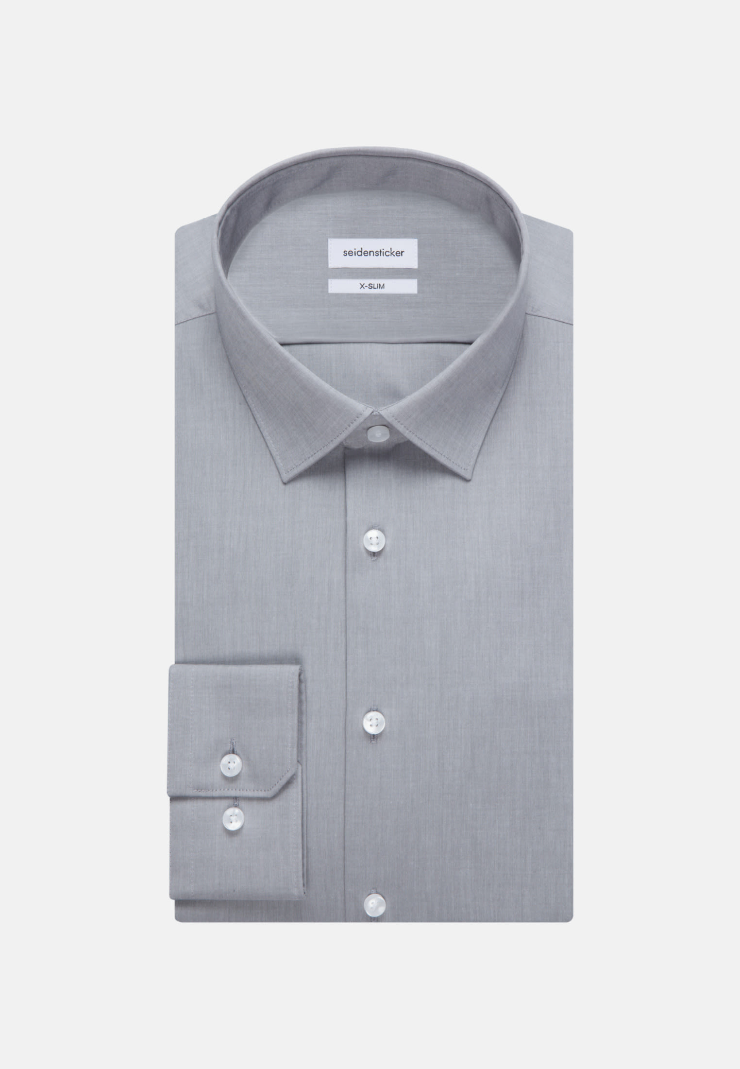 Non-iron Chambray Business Shirt in X-Slim with Kent-Collar in Grey |  Seidensticker Onlineshop