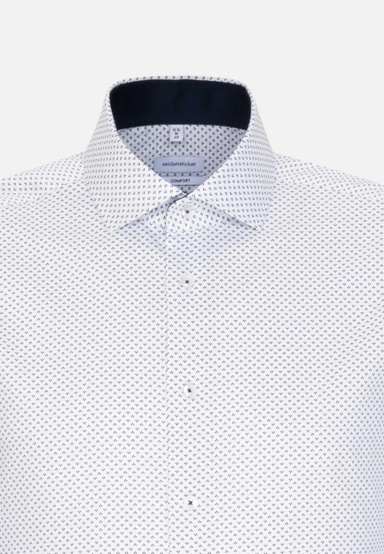 Bügelleichtes Twill Business Hemd in Comfort mit Kentkragen und extra langem Arm in Dunkelblau |  Seidensticker Onlineshop