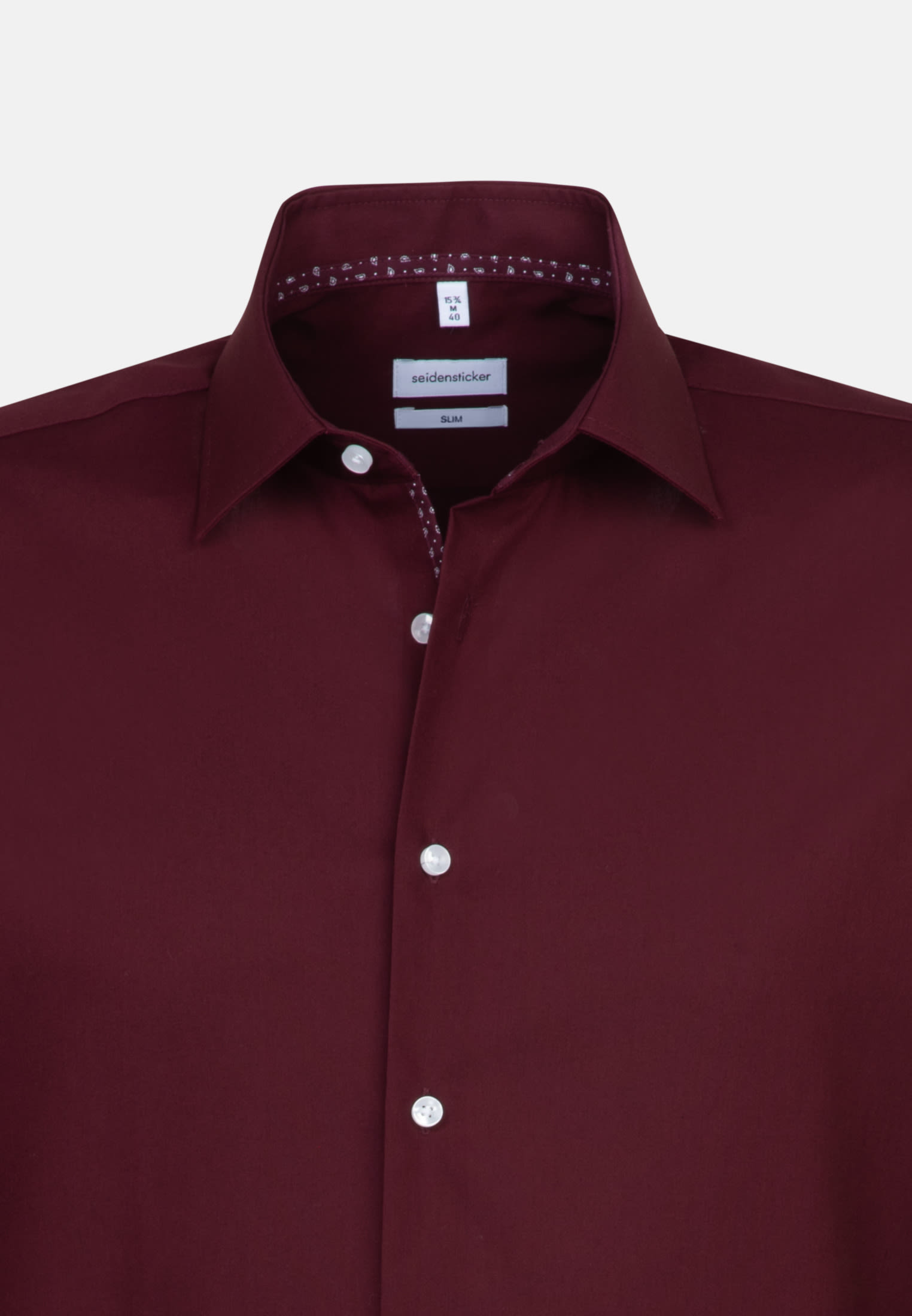 Non-iron Poplin Business Shirt in Slim with Kent-Collar in Red |  Seidensticker Onlineshop