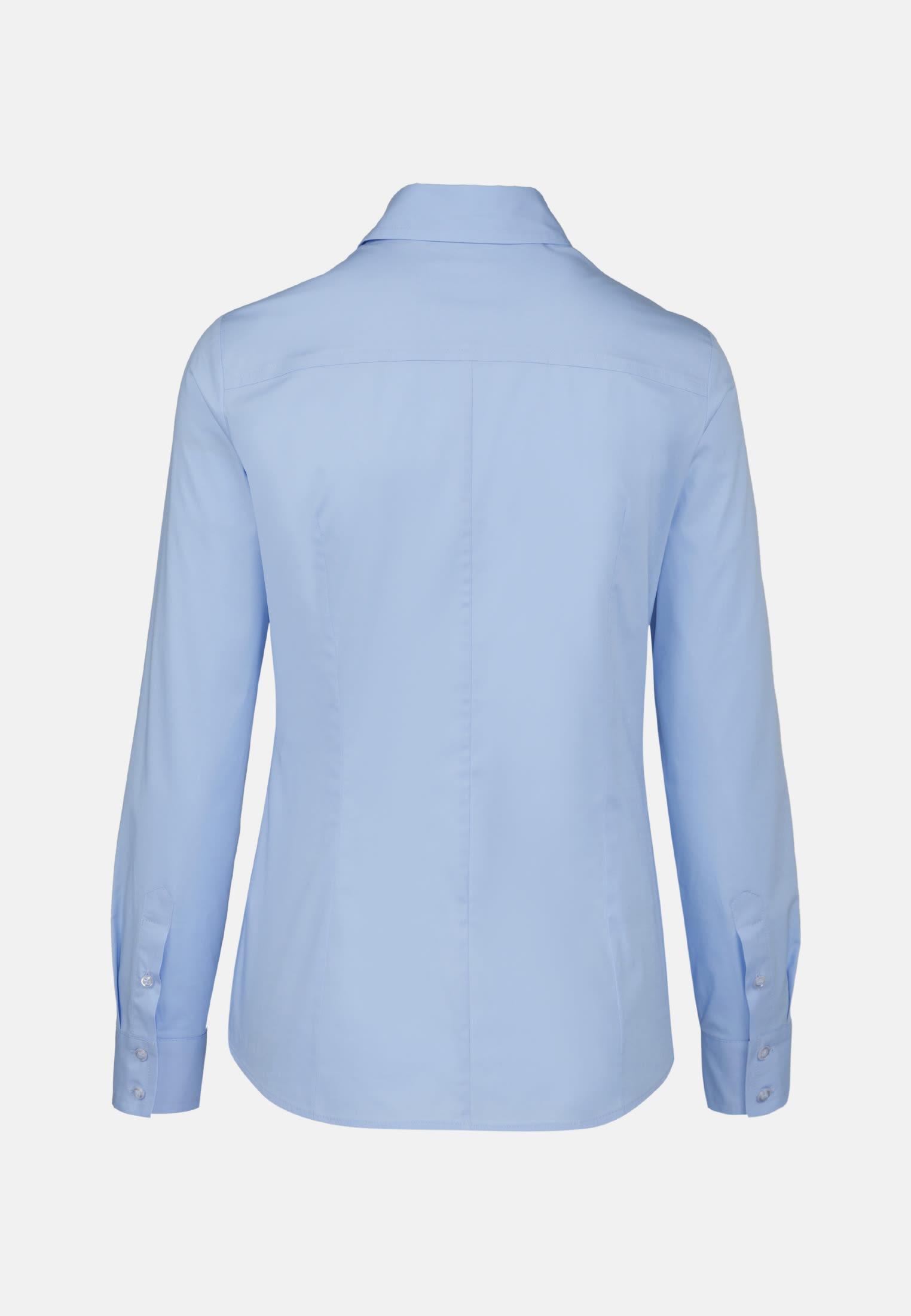Popeline Hemdbluse aus 96% Baumwolle 4% Elastan in bleu |  Seidensticker Onlineshop