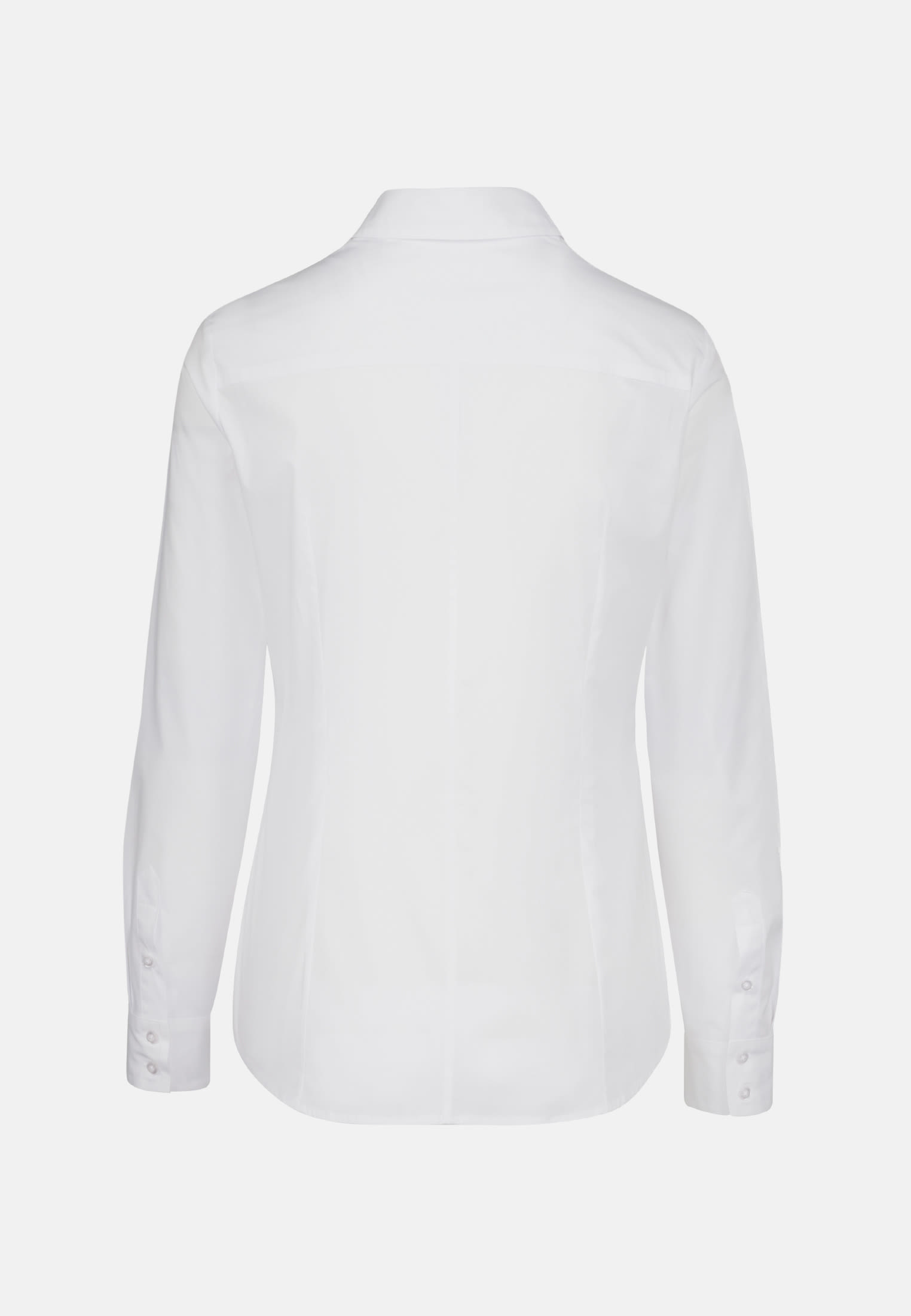 Poplin Shirt Blouse made of 96% Cotton 4% Elastane in White |  Seidensticker Onlineshop