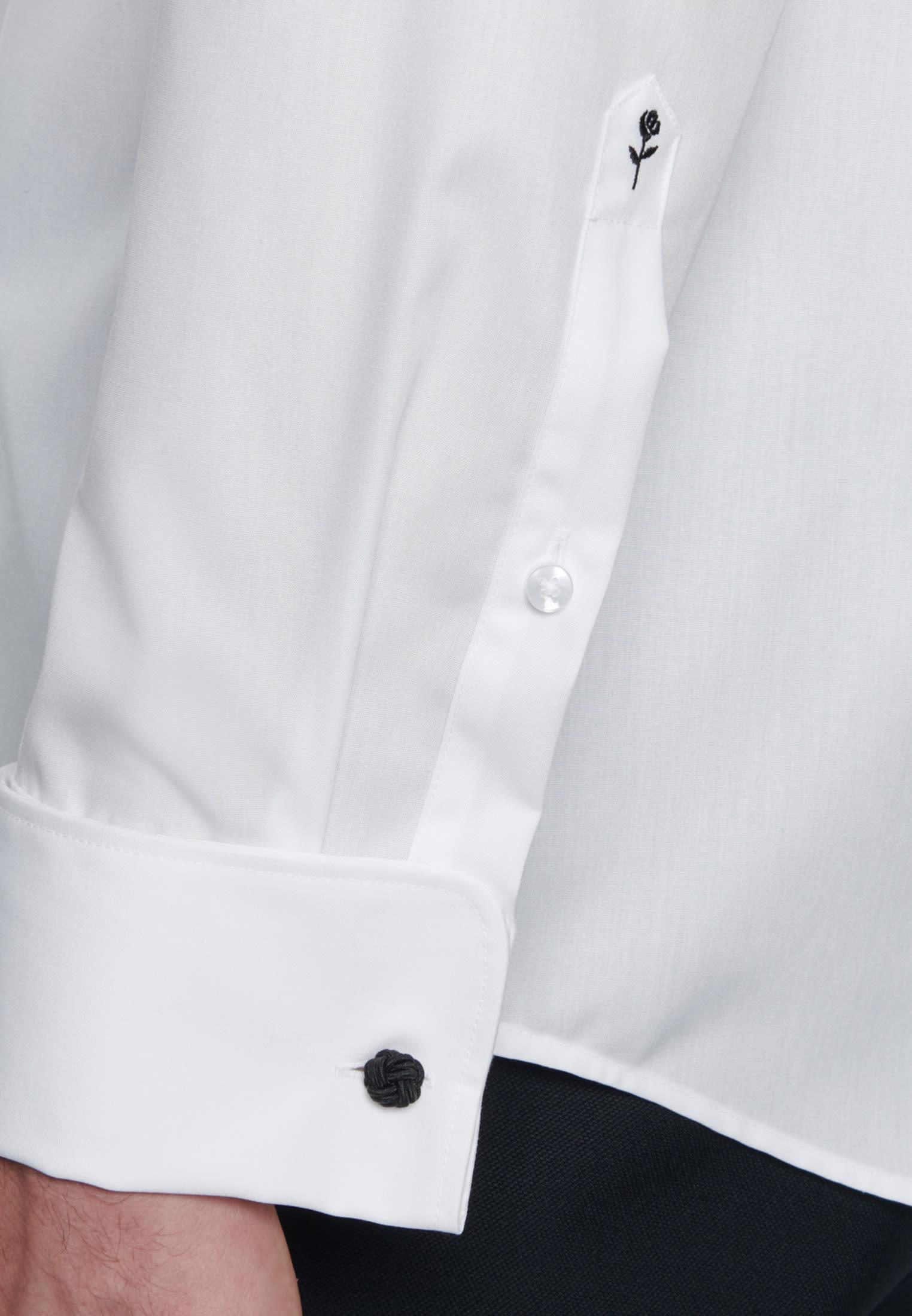 Non-iron Poplin Gala Shirt in Regular with Kent-Collar in White |  Seidensticker Onlineshop