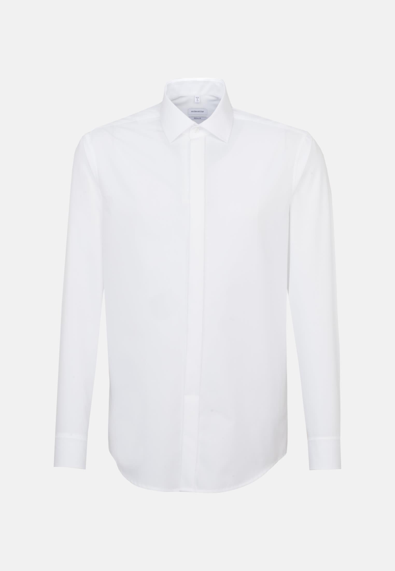 Bügelfreies Popeline Smokinghemd in Regular mit Kentkragen in Weiß |  Seidensticker Onlineshop