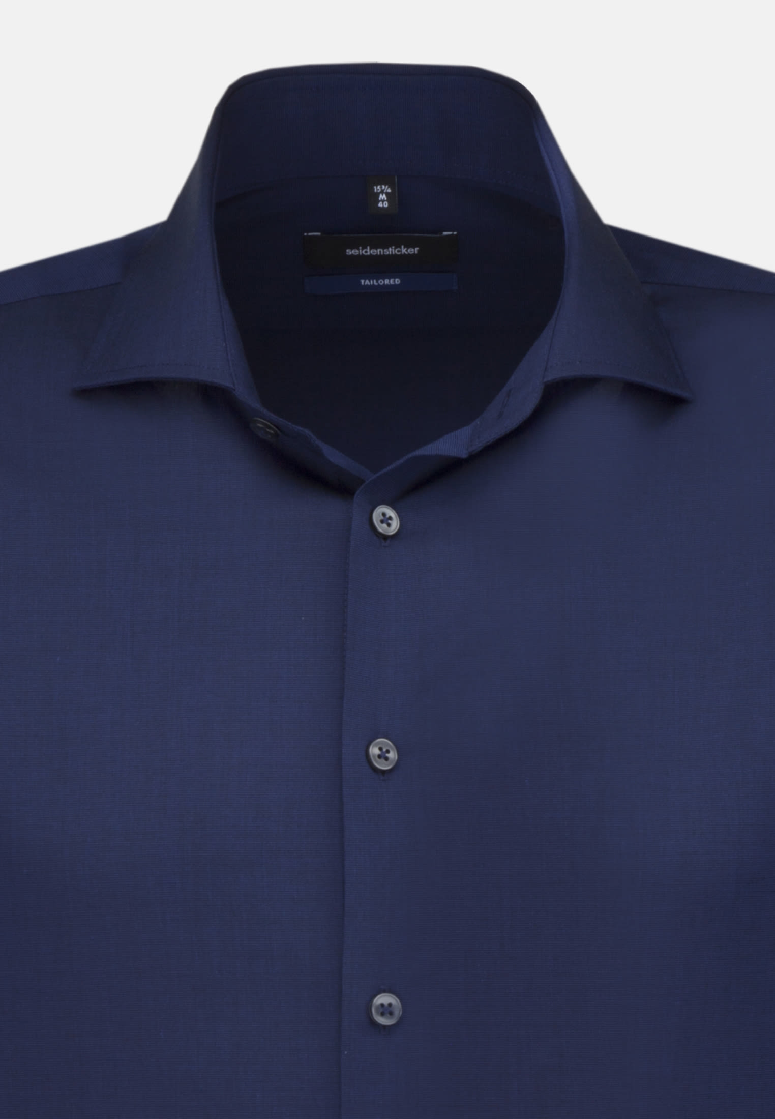 Non-iron Fil a fil Business Shirt in Shaped with Kent-Collar in Dark blue |  Seidensticker Onlineshop