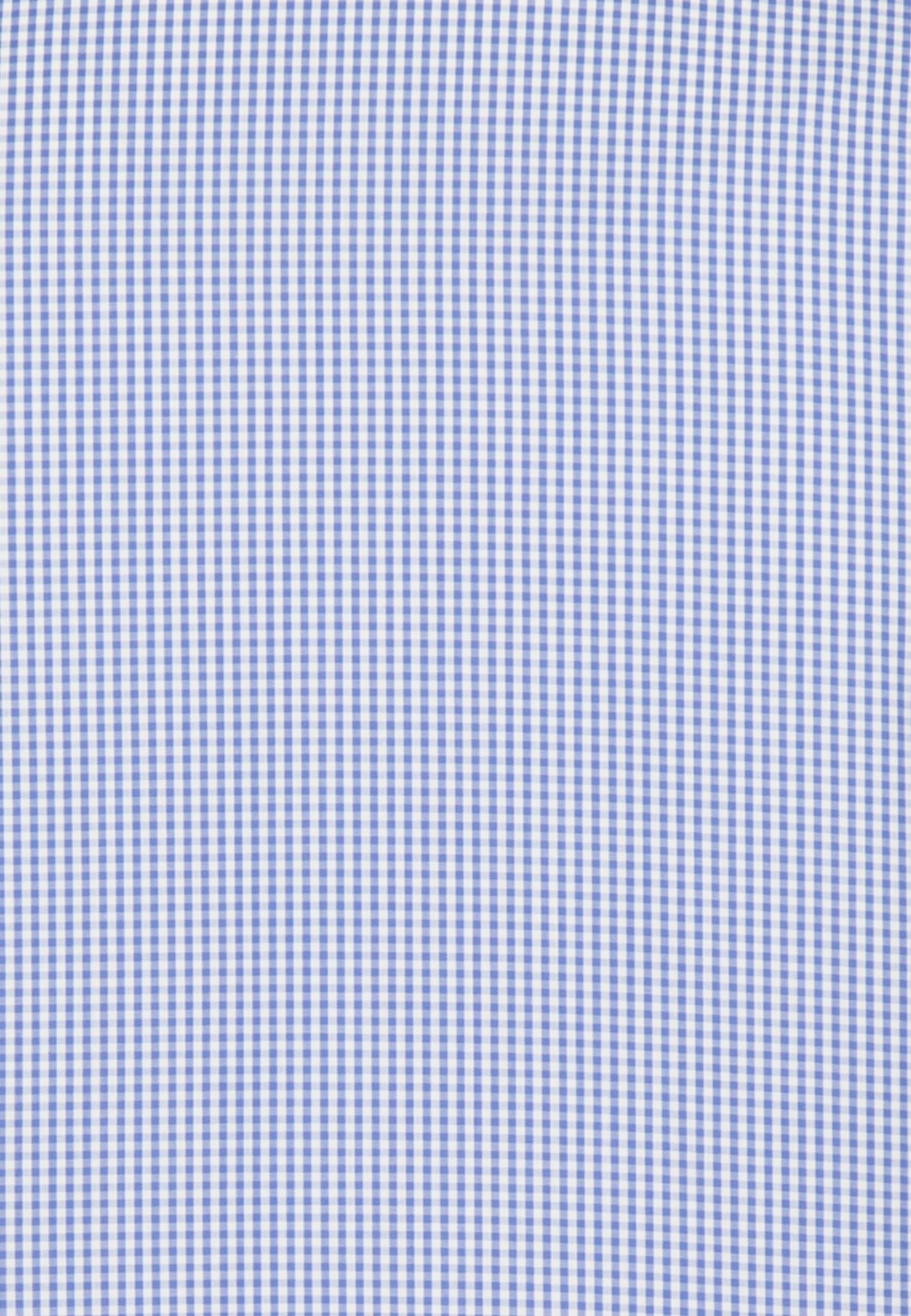Non-iron Poplin Business Shirt in Tailored with Button-Down-Collar in blau |  Seidensticker Onlineshop