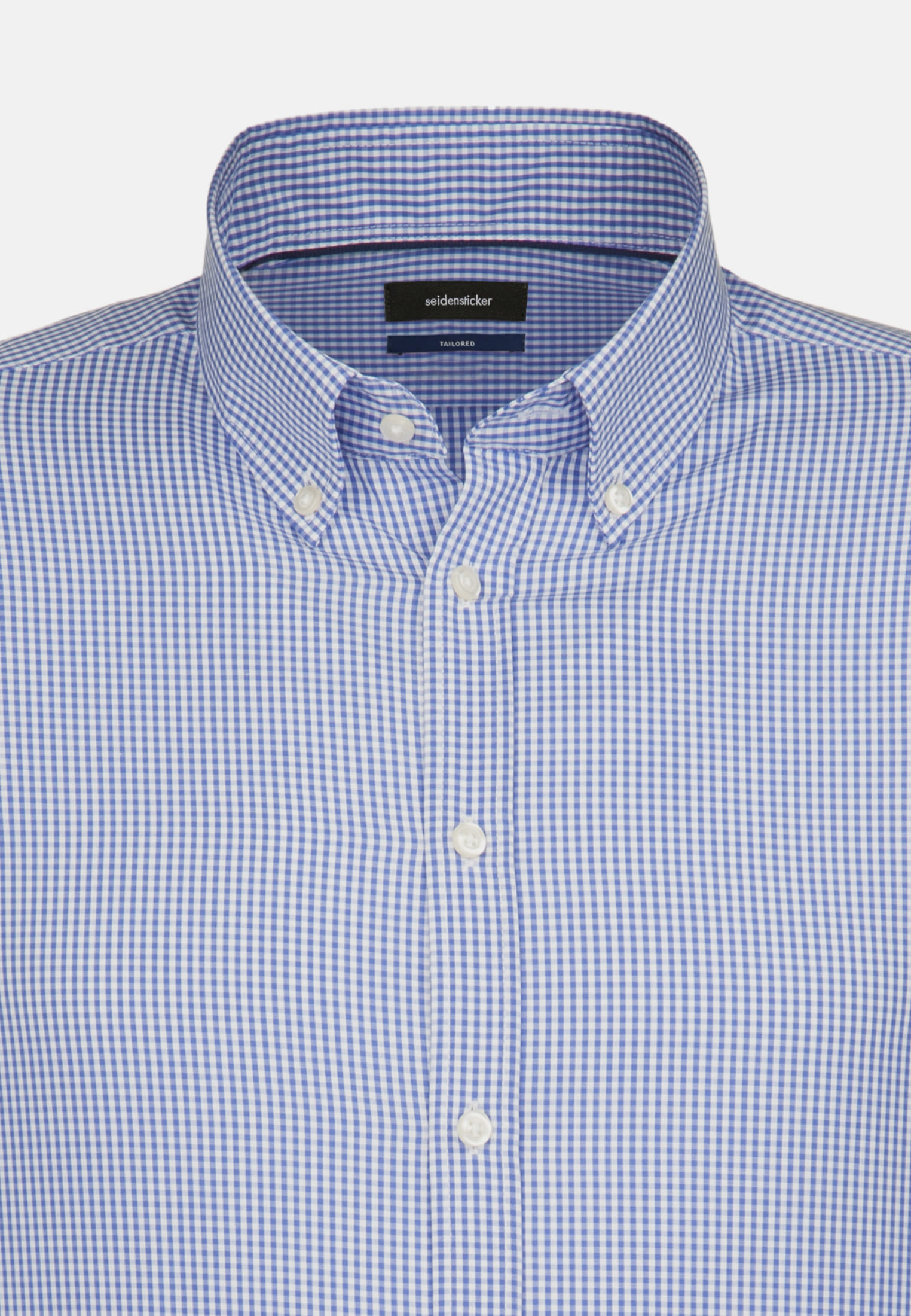 Bügelfreies Popeline Business Hemd in Tailored mit Button-Down-Kragen in Dunkelblau |  Seidensticker Onlineshop