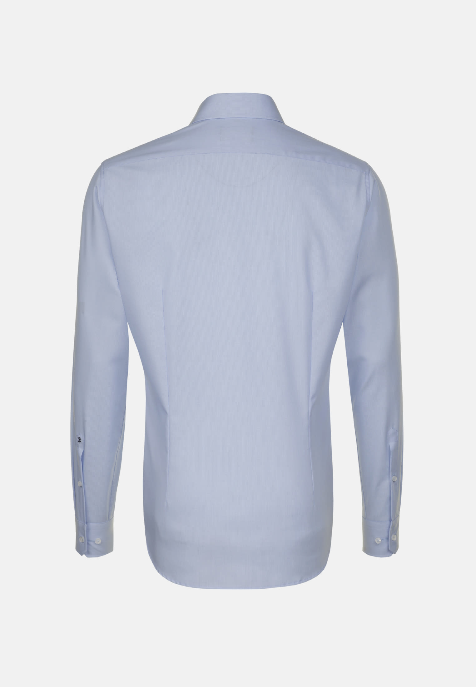 Non-iron Poplin Business Shirt in Tailored with Kent-Collar in Light blue |  Seidensticker Onlineshop