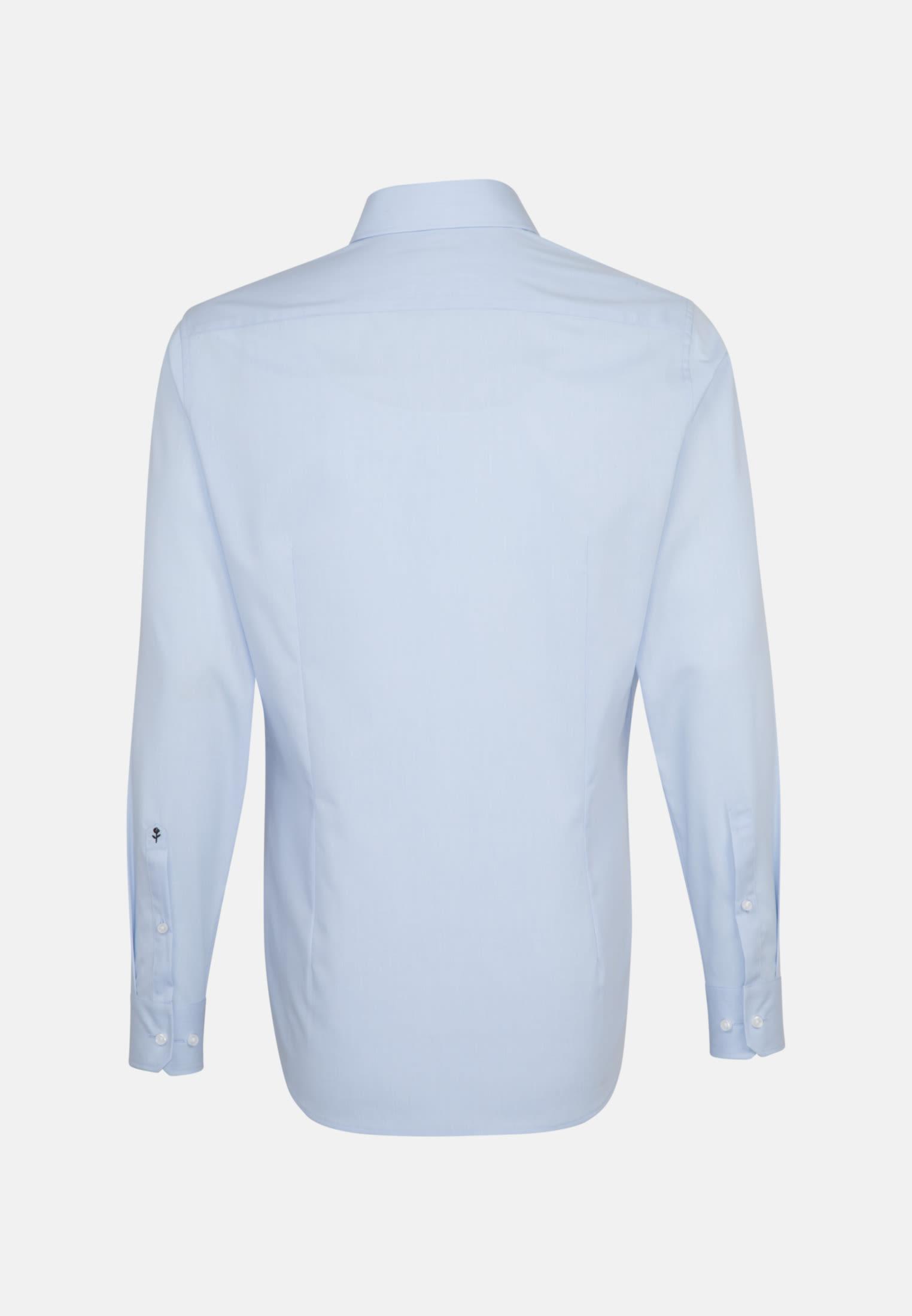 Non-iron Poplin Business Shirt in Shaped with Kent-Collar in Light blue |  Seidensticker Onlineshop