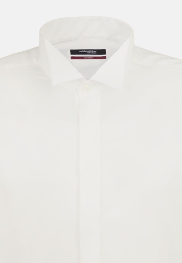 Non-iron Poplin Gala Shirt in Modern with Wing Collar in Braun |  Seidensticker Onlineshop