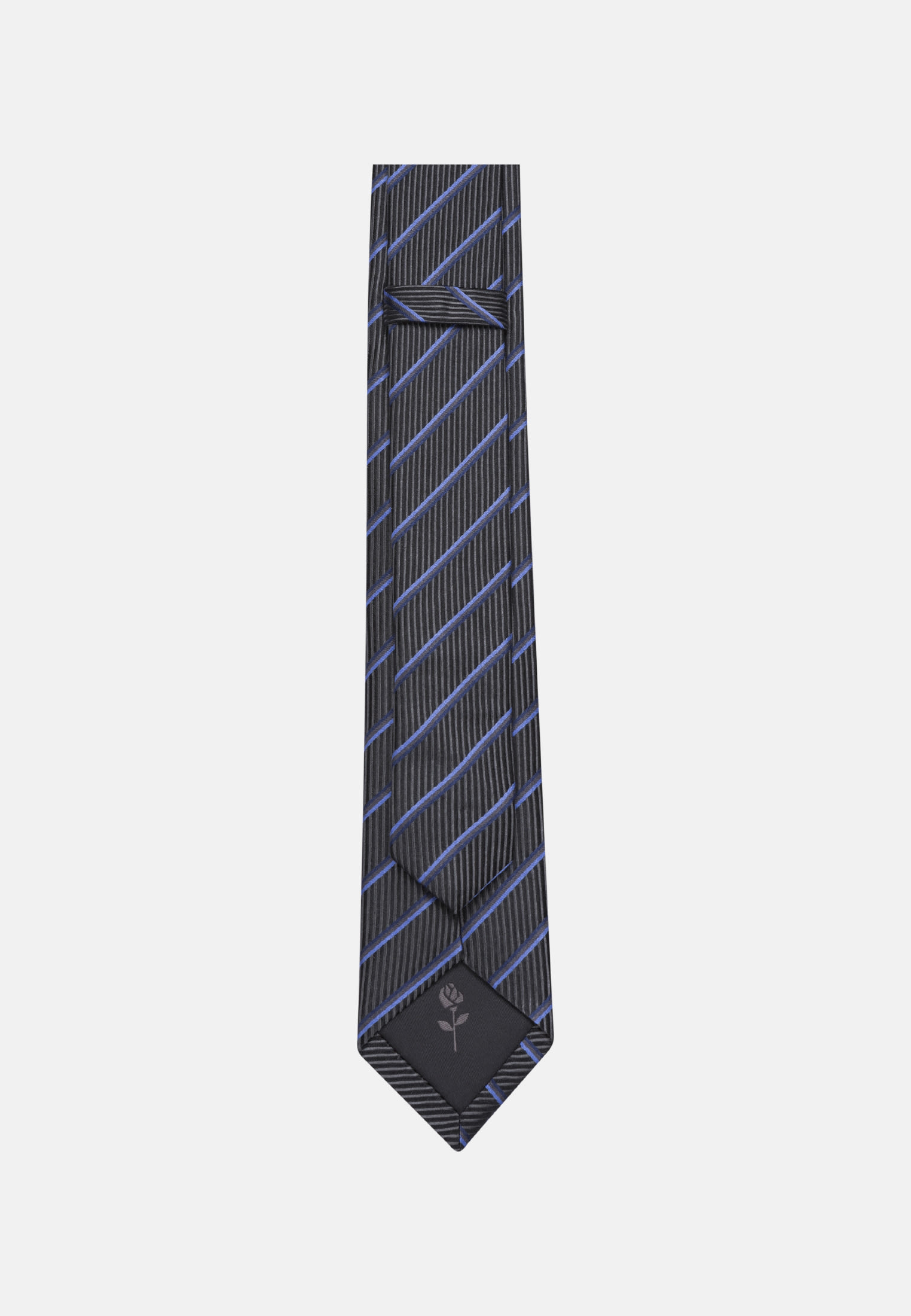 Tie made of 100% Silk 6 cm wide in Grey |  Seidensticker Onlineshop