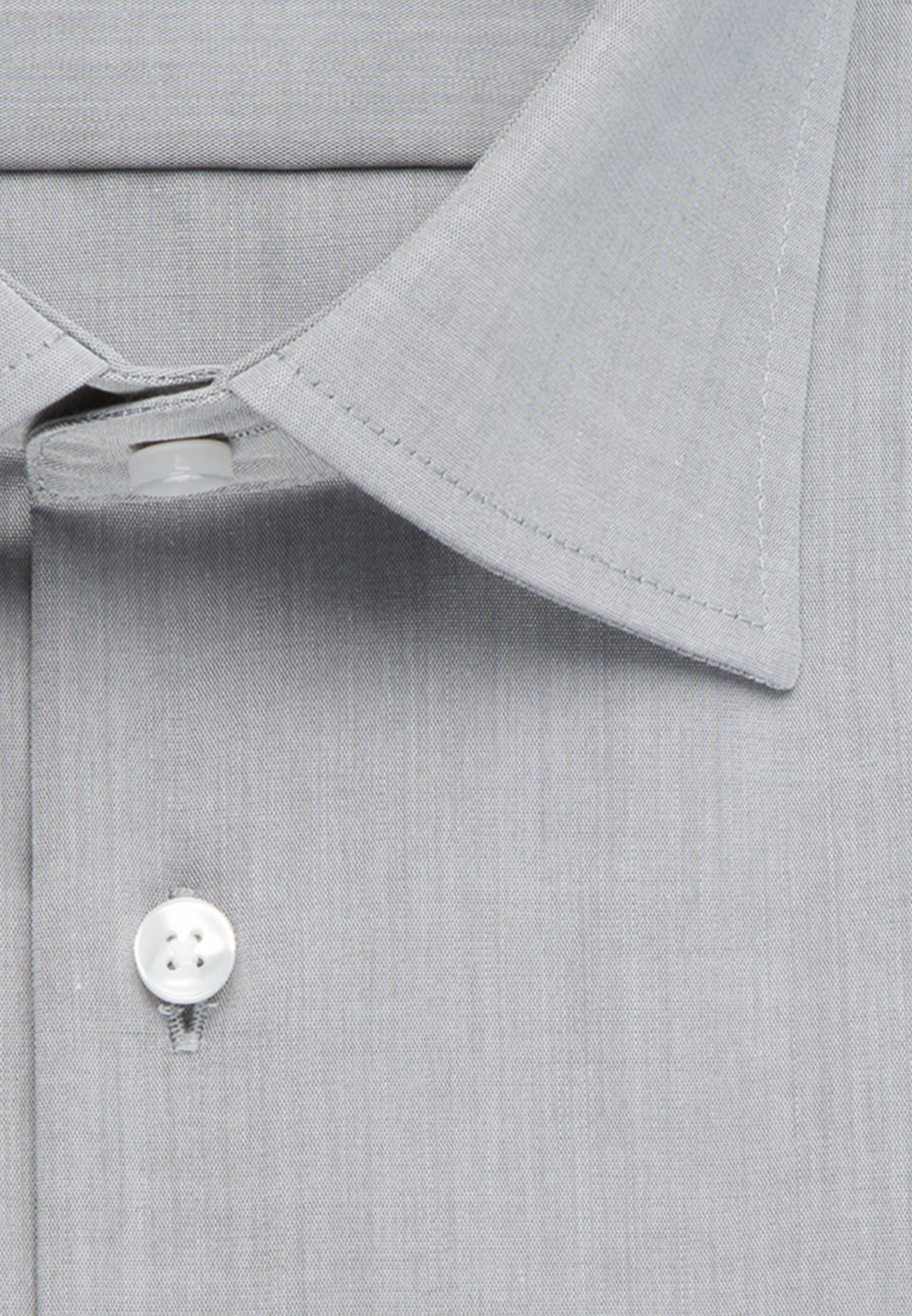 Non-iron Chambray Business Shirt in Modern with Kent-Collar in Grey |  Seidensticker Onlineshop