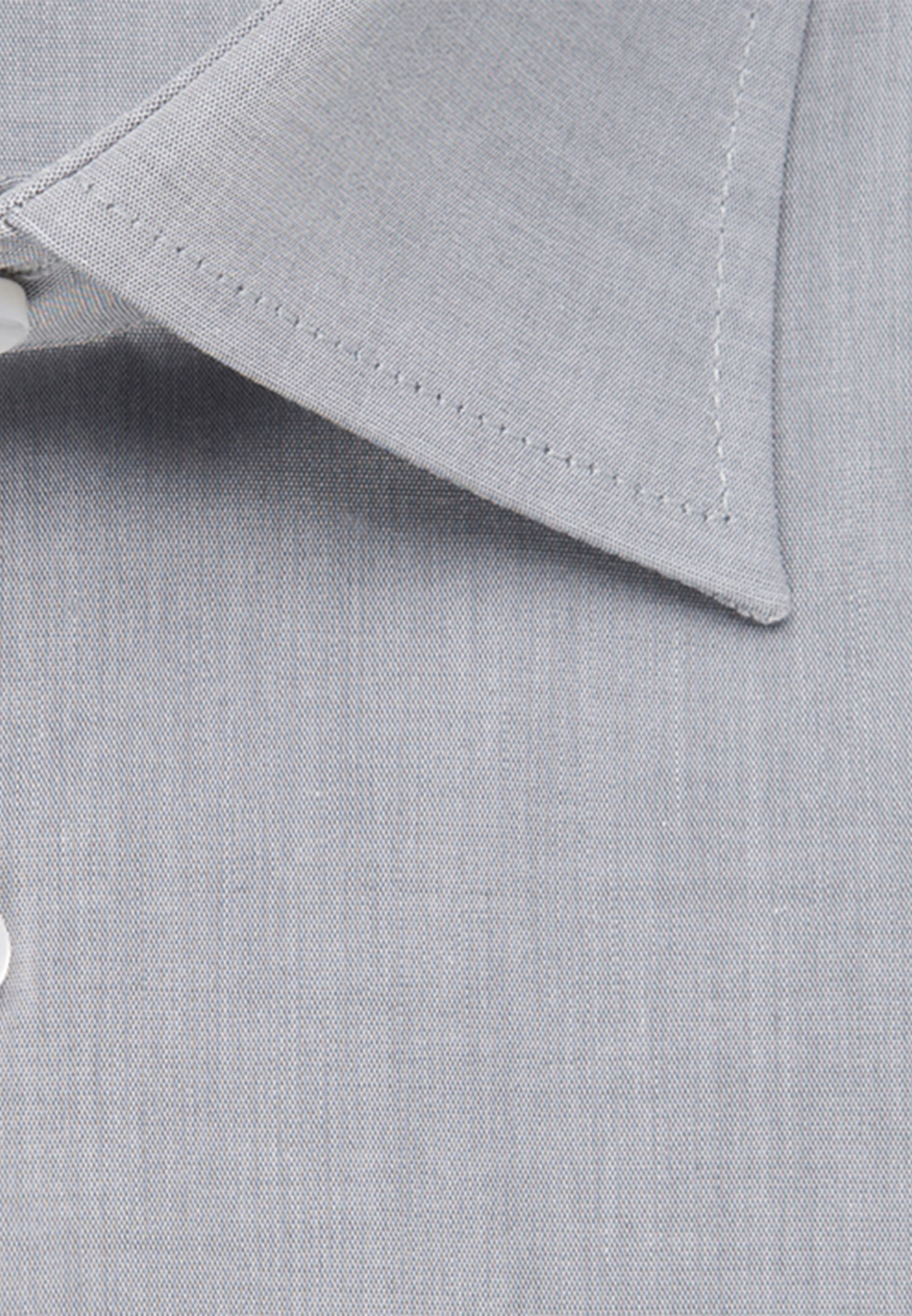 Bügelfreies Chambray Business Hemd in Regular mit Kentkragen in Grau |  Seidensticker Onlineshop