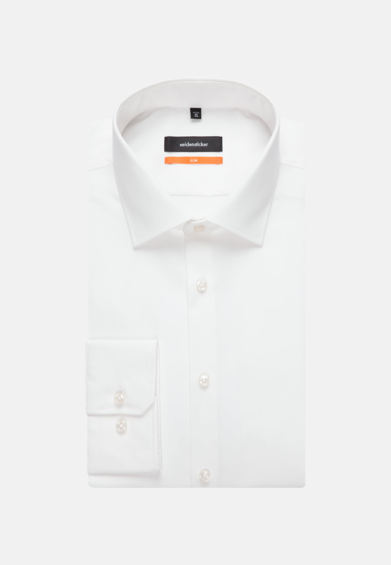 Non-iron Poplin Business Shirt in Slim with Kent-Collar in Ecru |  Seidensticker Onlineshop