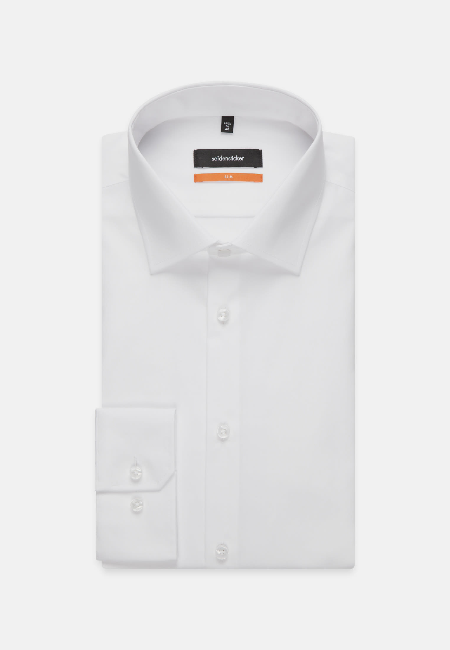 Non-iron Poplin Business Shirt in Slim with Kent-Collar and extra long arm in White |  Seidensticker Onlineshop