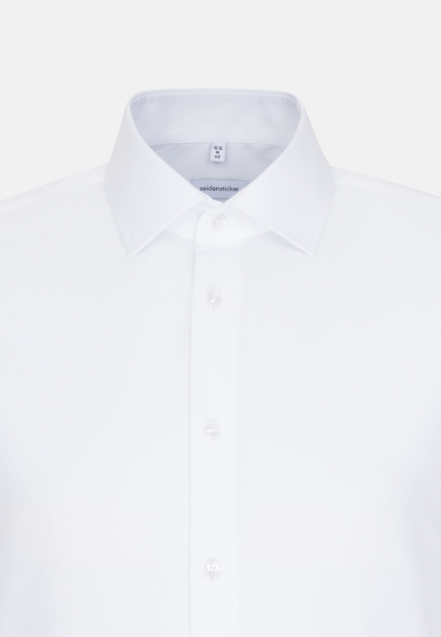 Non-iron Poplin Business Shirt in Slim with Kent-Collar and extra long sleeve in White |  Seidensticker Onlineshop