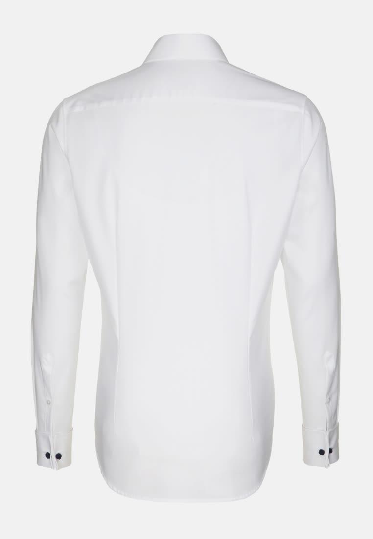 Non-iron Poplin Gala Shirt in Slim with Kent-Collar in White |  Seidensticker Onlineshop