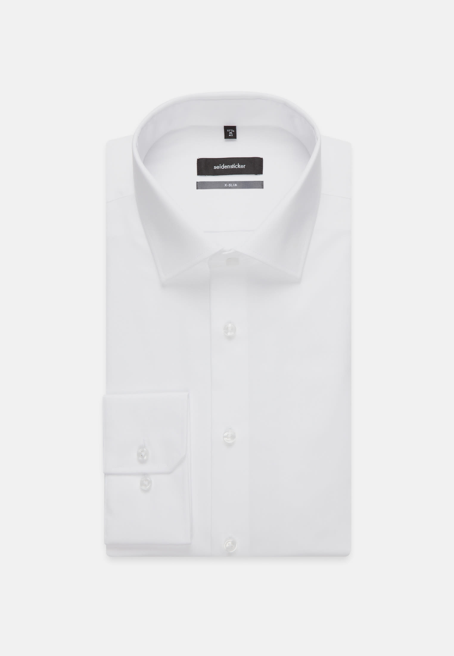 Non-iron Fil a fil Business Shirt in X-Slim with Kent-Collar in weiß |  Seidensticker Onlineshop