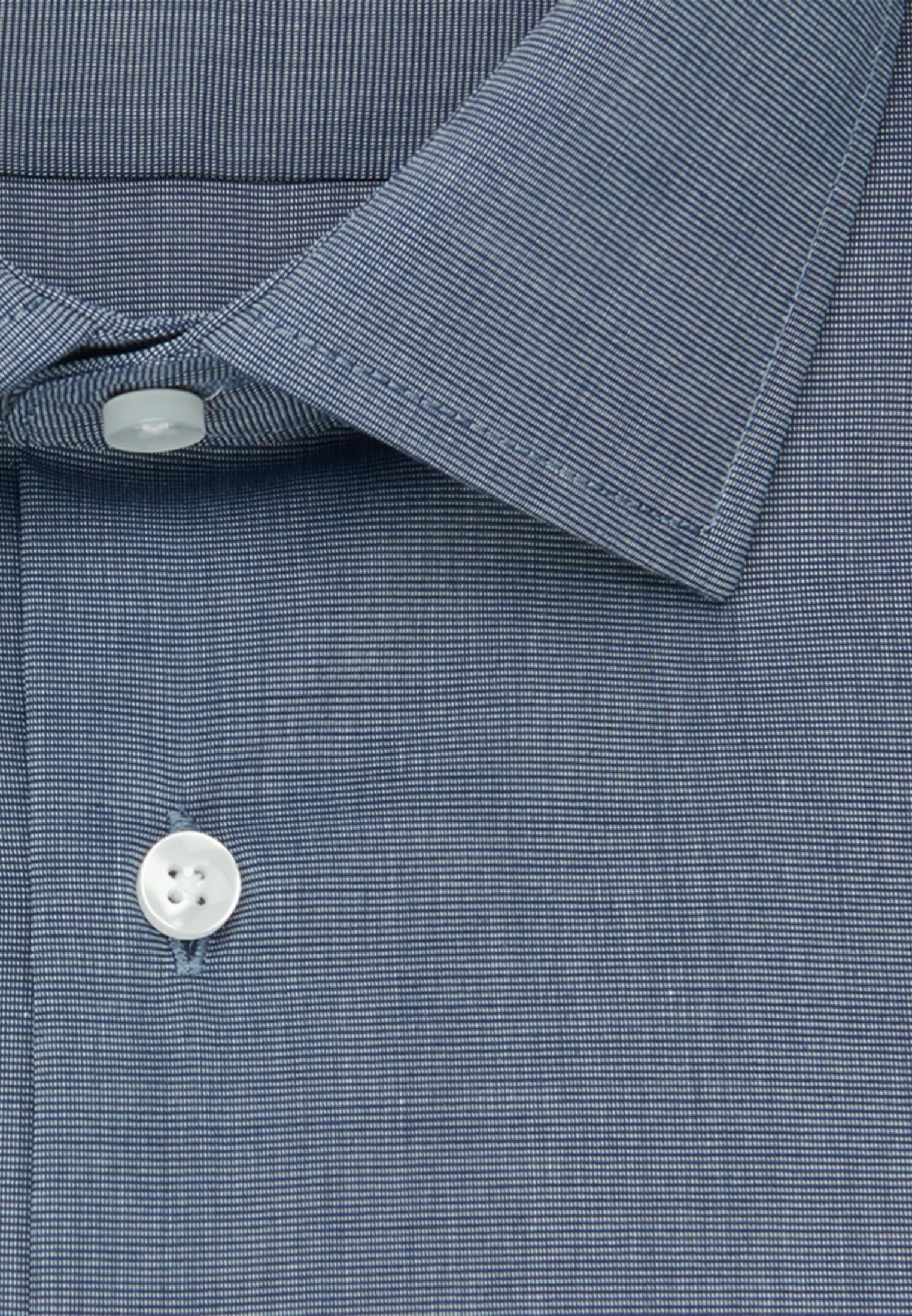Non-iron Fil a fil Business Shirt in Shaped with Kent-Collar in Dark blue |  Seidensticker Onlineshop