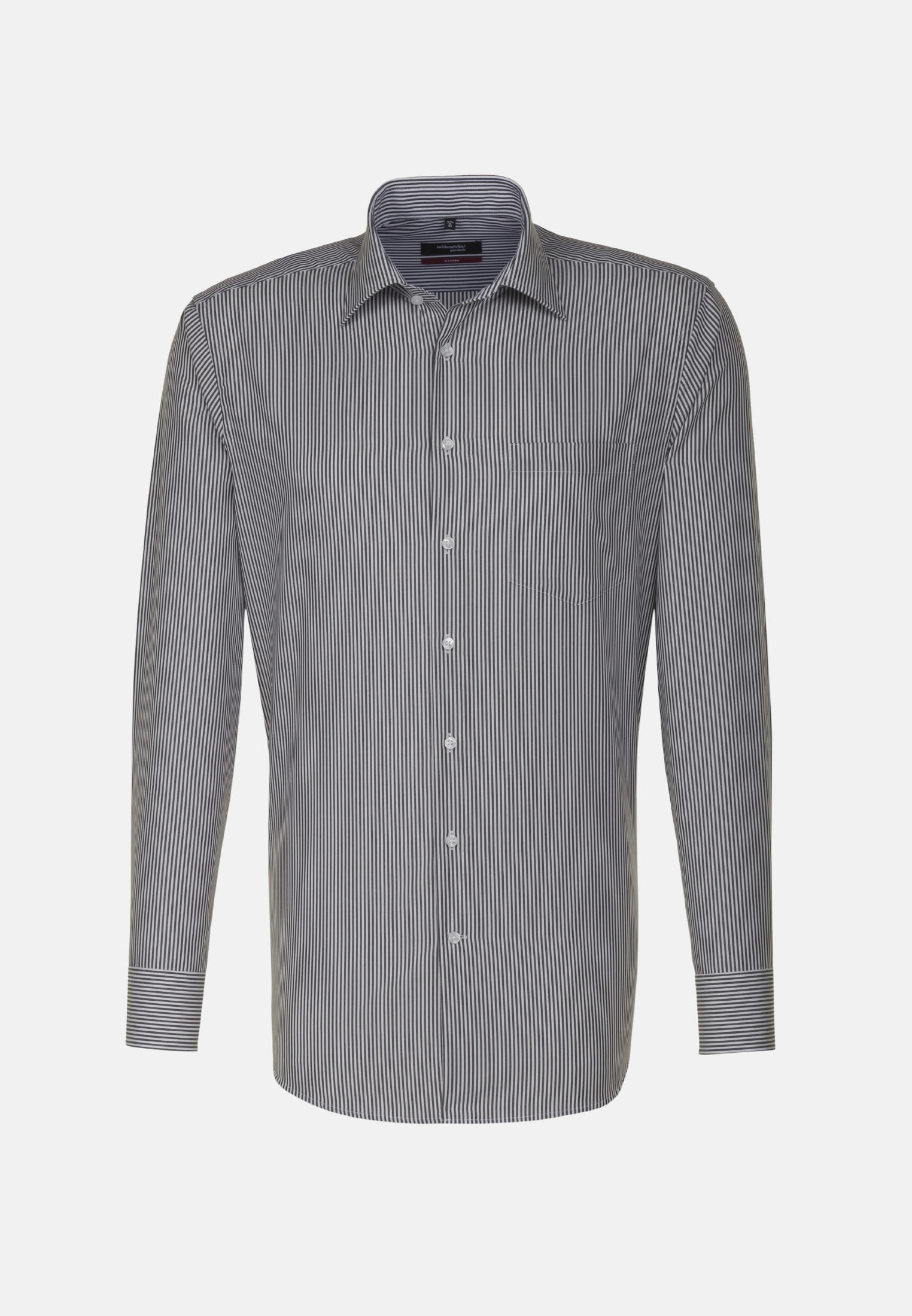 Non-iron Poplin Business Shirt in Regular with Kent-Collar in Black |  Seidensticker Onlineshop