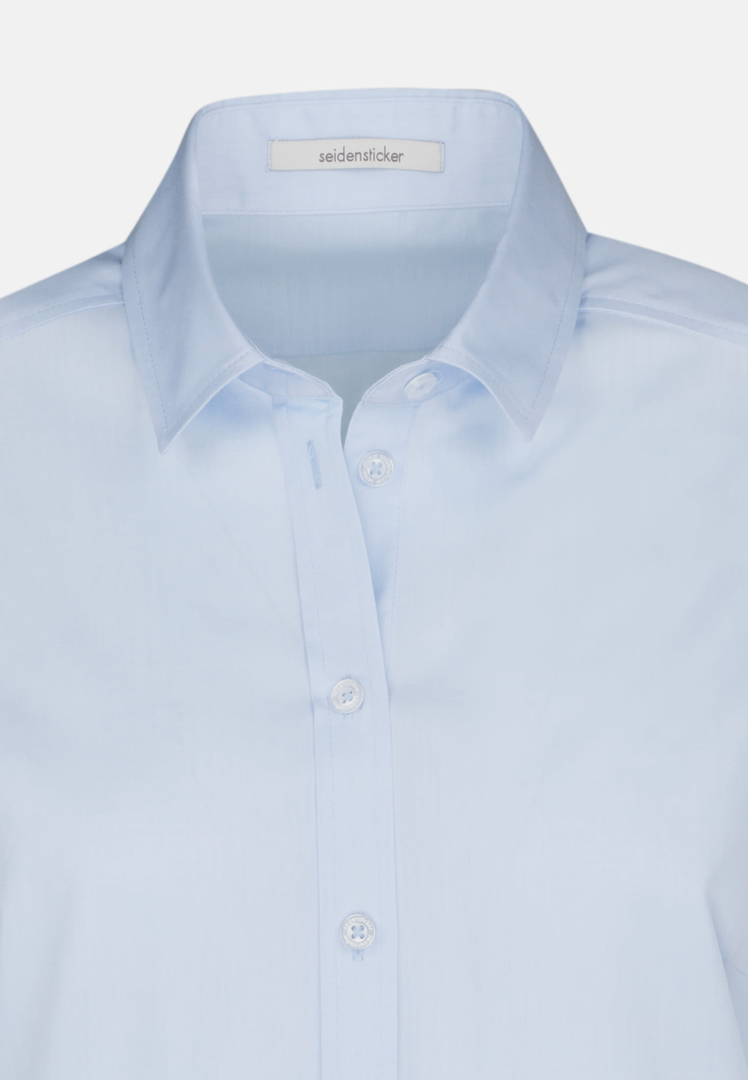 Twill Shirt Blouse made of 100% Cotton in Light blue |  Seidensticker Onlineshop