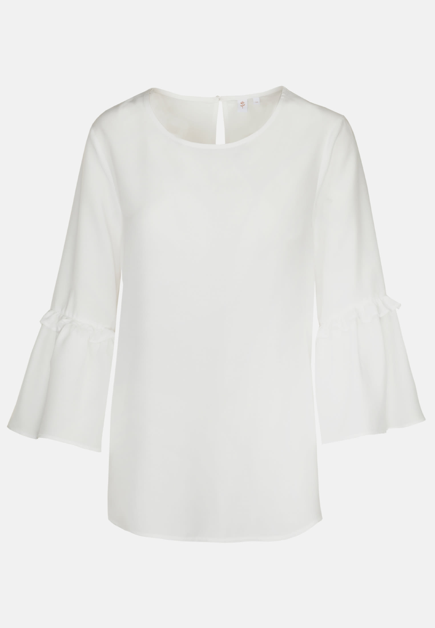 3/4 sleeve Voile Shirt Blouse aus 100% Viscose in White |  Seidensticker Onlineshop