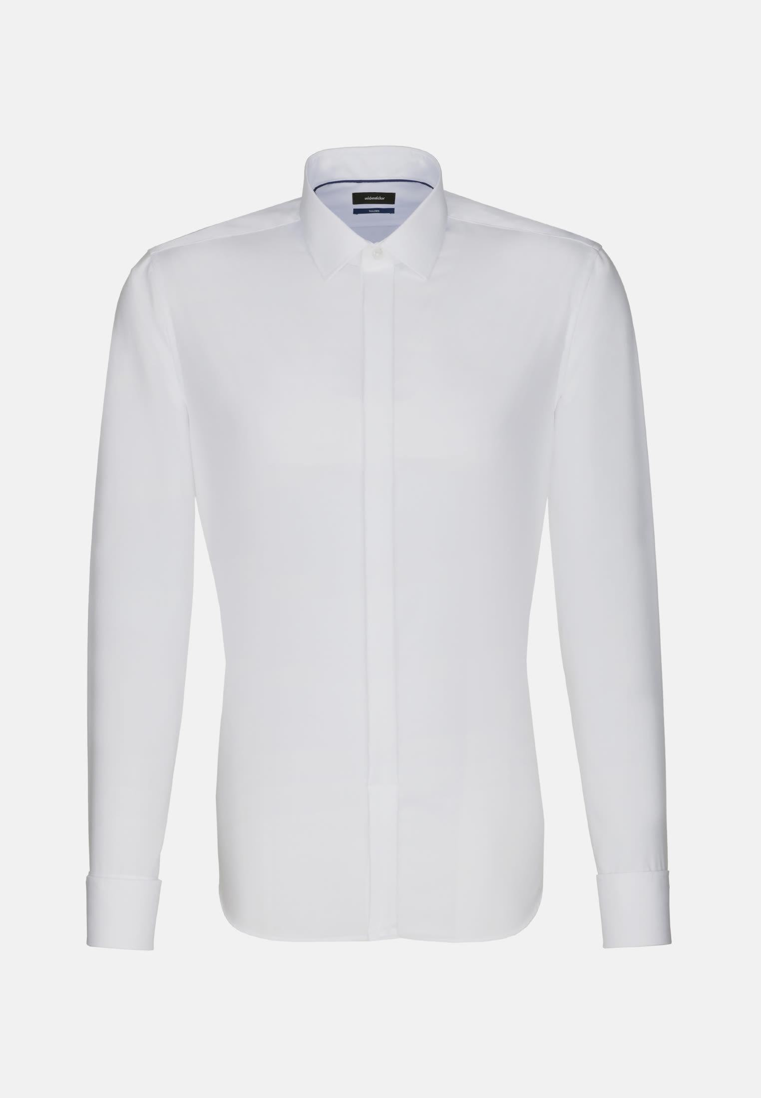 Non-iron Poplin Gala Shirt in Shaped with Kent-Collar in White    Seidensticker Onlineshop