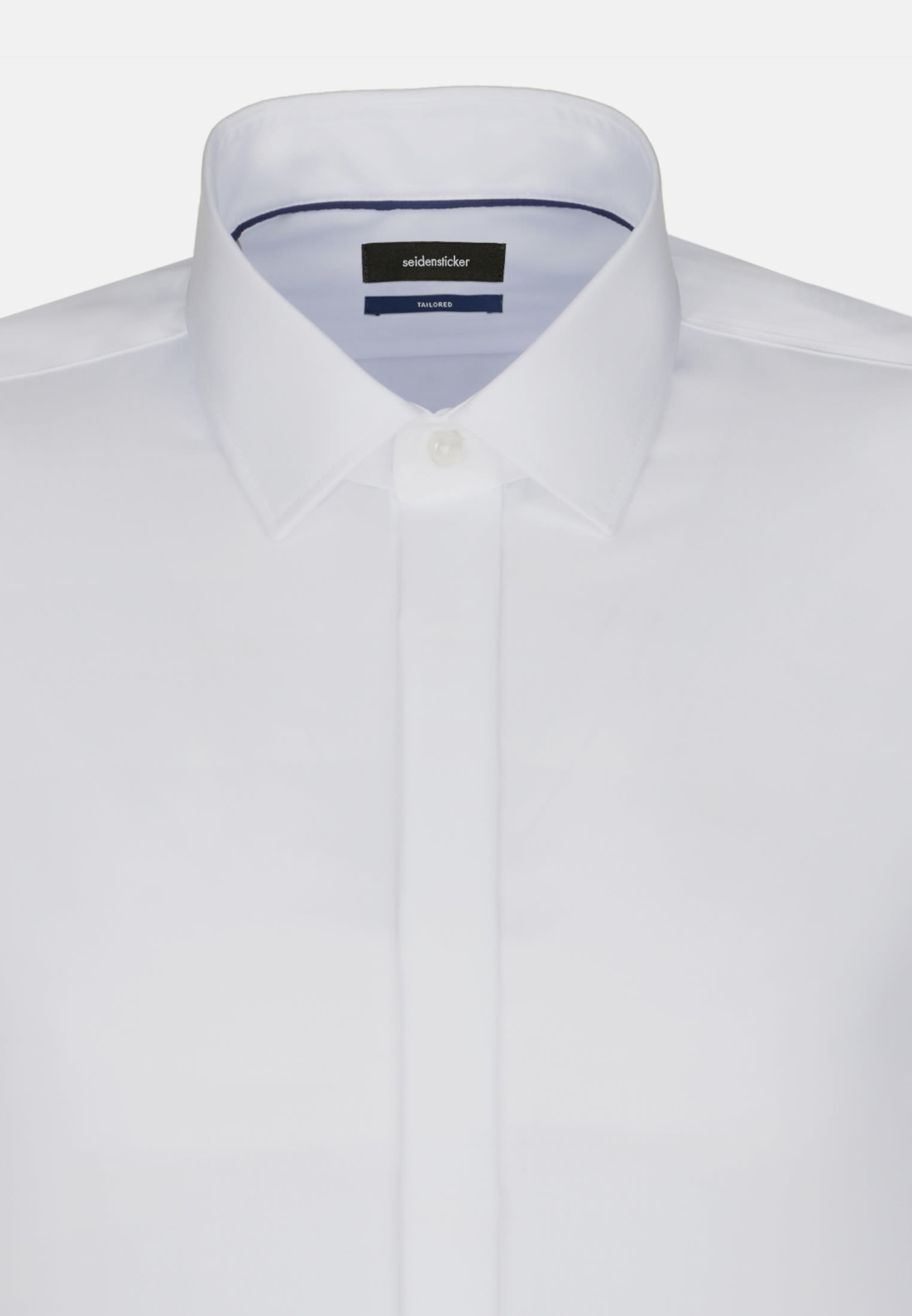Non-iron Poplin Gala Shirt in Tailored with Kent-Collar in White |  Seidensticker Onlineshop