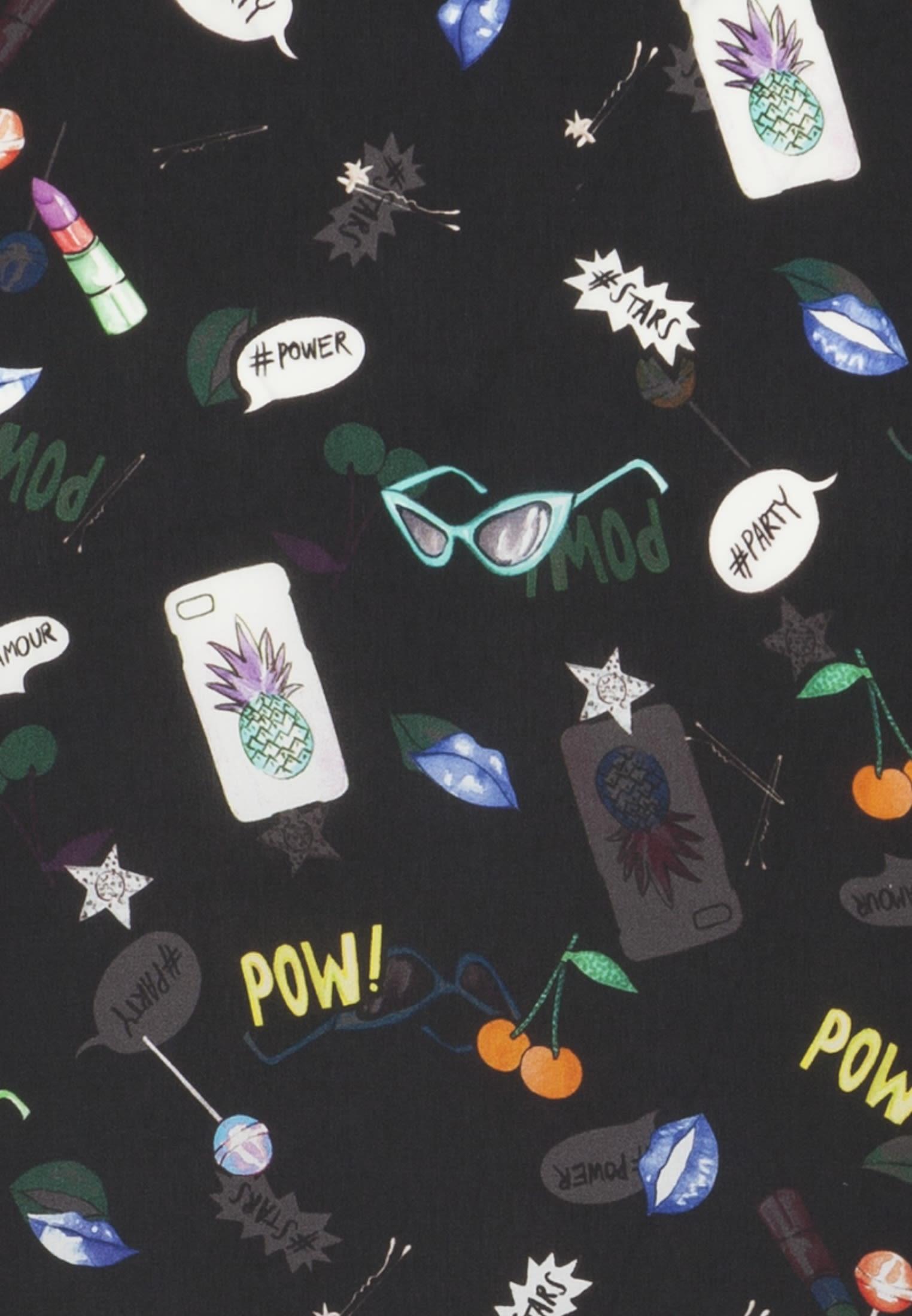 Satin Tie-Neck Blouse made of 100% Polyester in Black |  Seidensticker Onlineshop