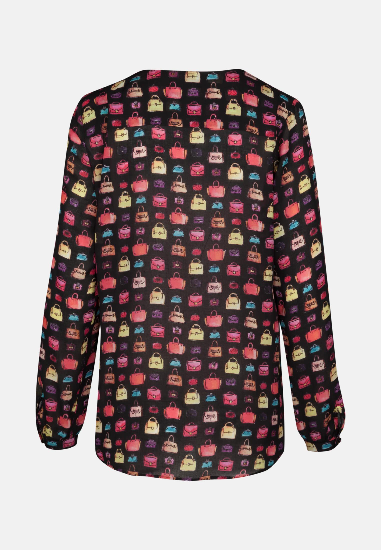 Voile Shirt Blouse made of 100% Viscose in Black |  Seidensticker Onlineshop