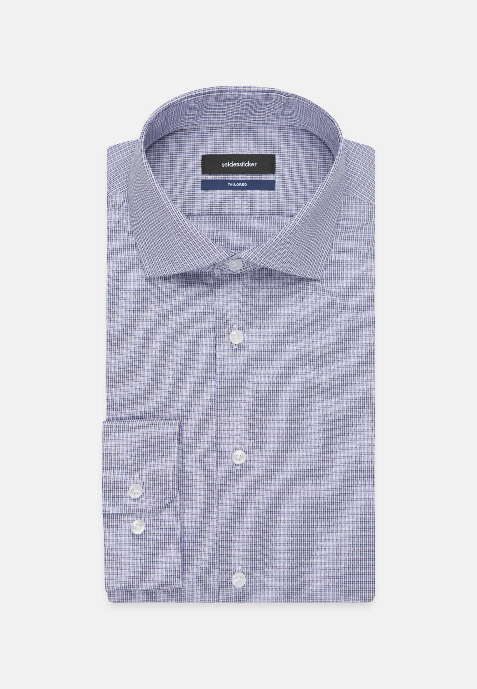 Easy-iron Poplin Business Shirt in Shaped with Kent-Collar in Purple |  Seidensticker Onlineshop