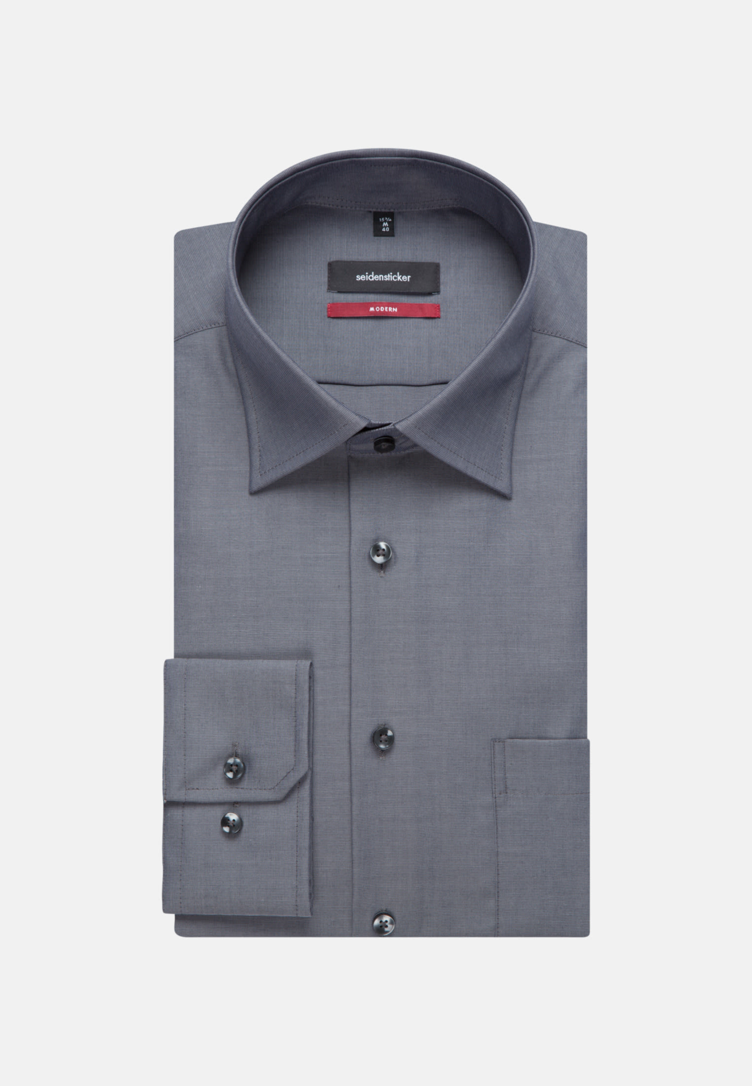 Non-iron Fil a fil Business Shirt in Modern with Kent-Collar in Grey |  Seidensticker Onlineshop