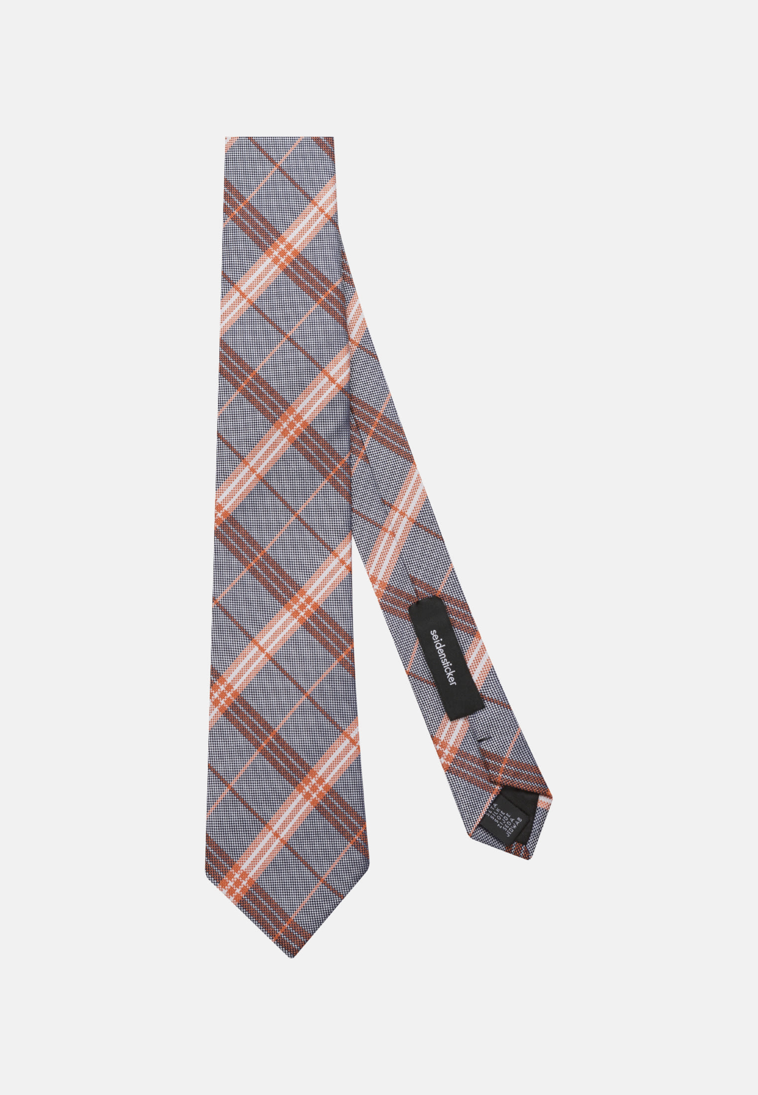 Tie made of 100% Silk 7 cm wide in Orange |  Seidensticker Onlineshop