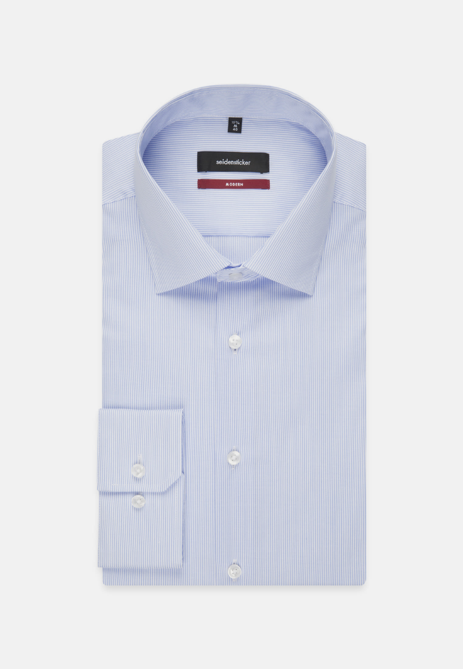 Non-iron Twill Business Shirt in Regular with Kent-Collar in Light blue |  Seidensticker Onlineshop