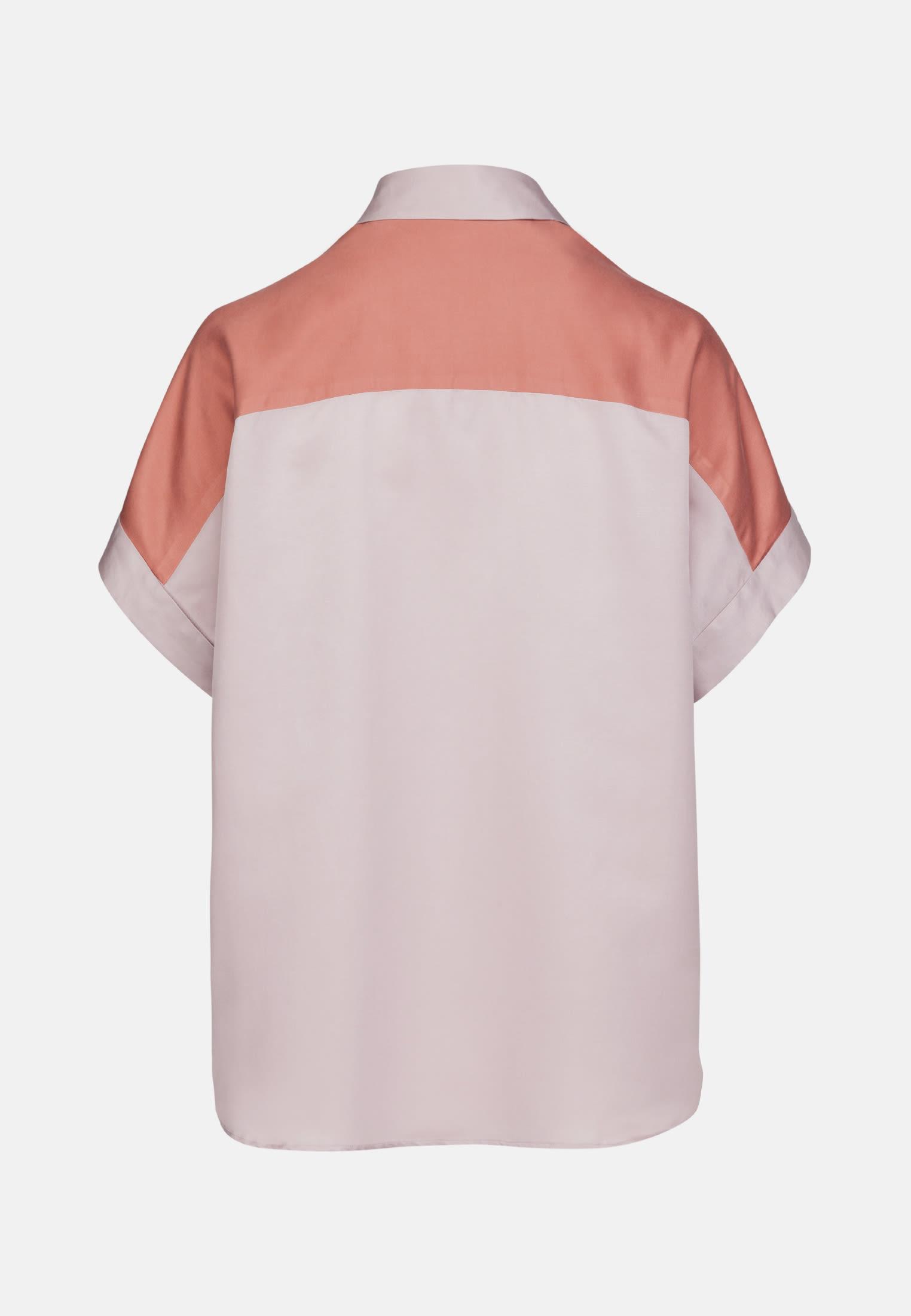 Kurzarm Popeline Oversizebluse aus in Rosa/Pink |  Seidensticker Onlineshop