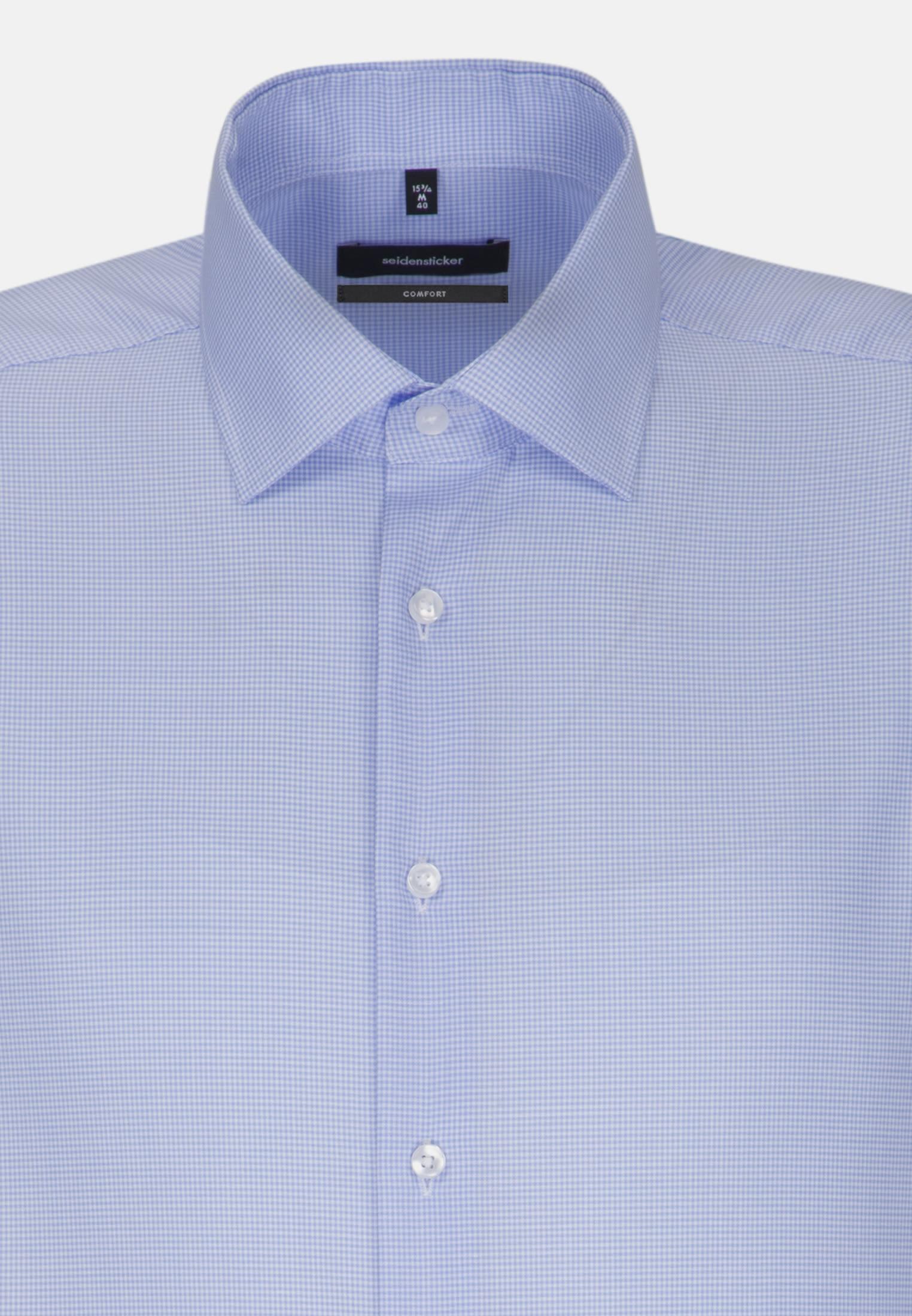 Non-iron Twill Business Shirt in Comfort with Kent-Collar in blau    Seidensticker Onlineshop
