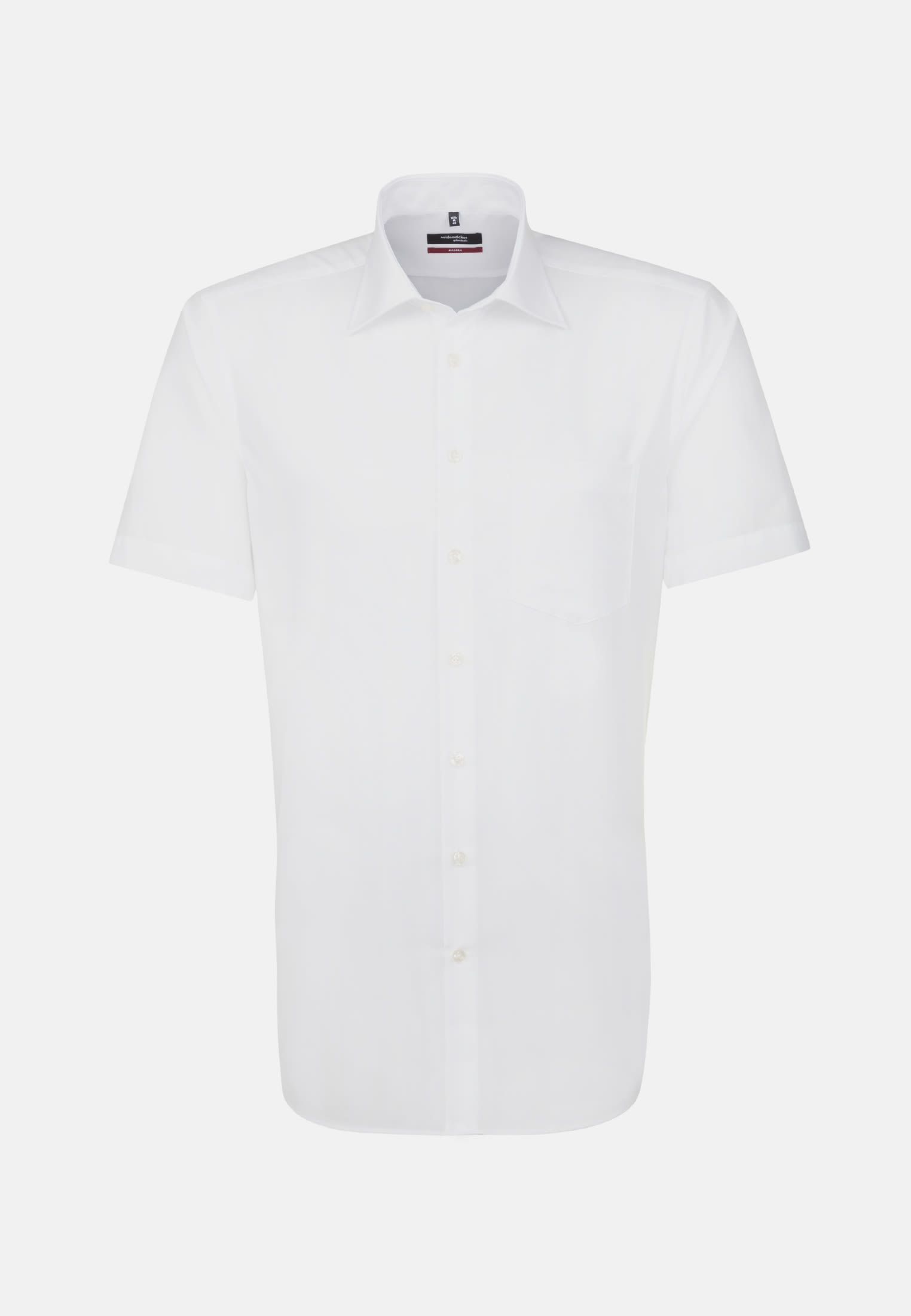 Non-iron Fil a fil Short arm Business Shirt in Regular with Kent-Collar in White |  Seidensticker Onlineshop