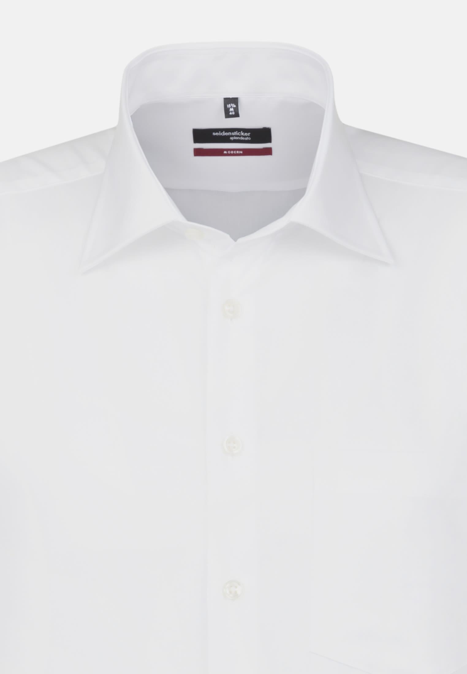 Non-iron Fil a fil Short arm Business Shirt in Modern with Kent-Collar in weiß |  Seidensticker Onlineshop