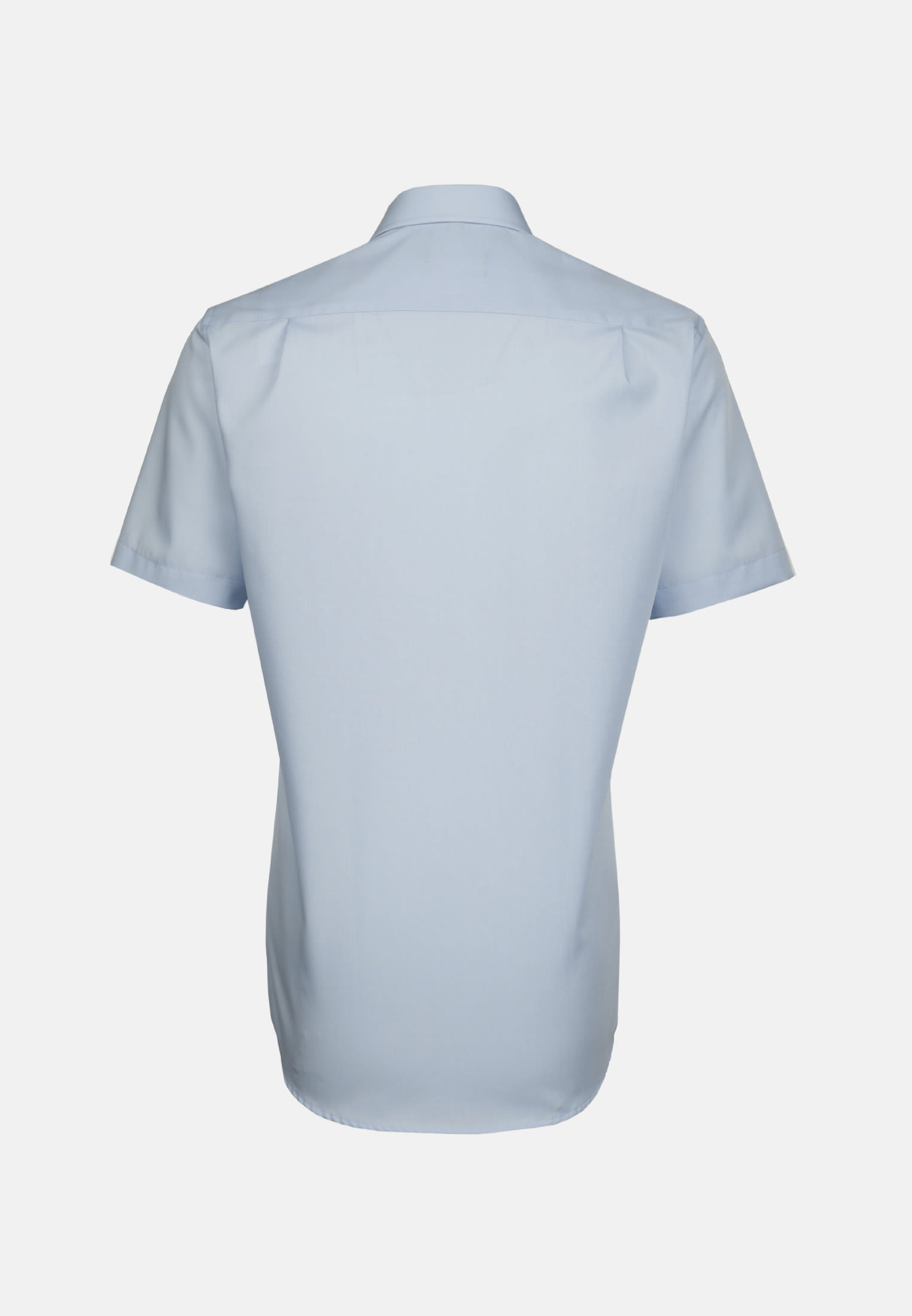Non-iron Fil a fil Short arm Business Shirt in Modern with Kent-Collar in Light blue |  Seidensticker Onlineshop