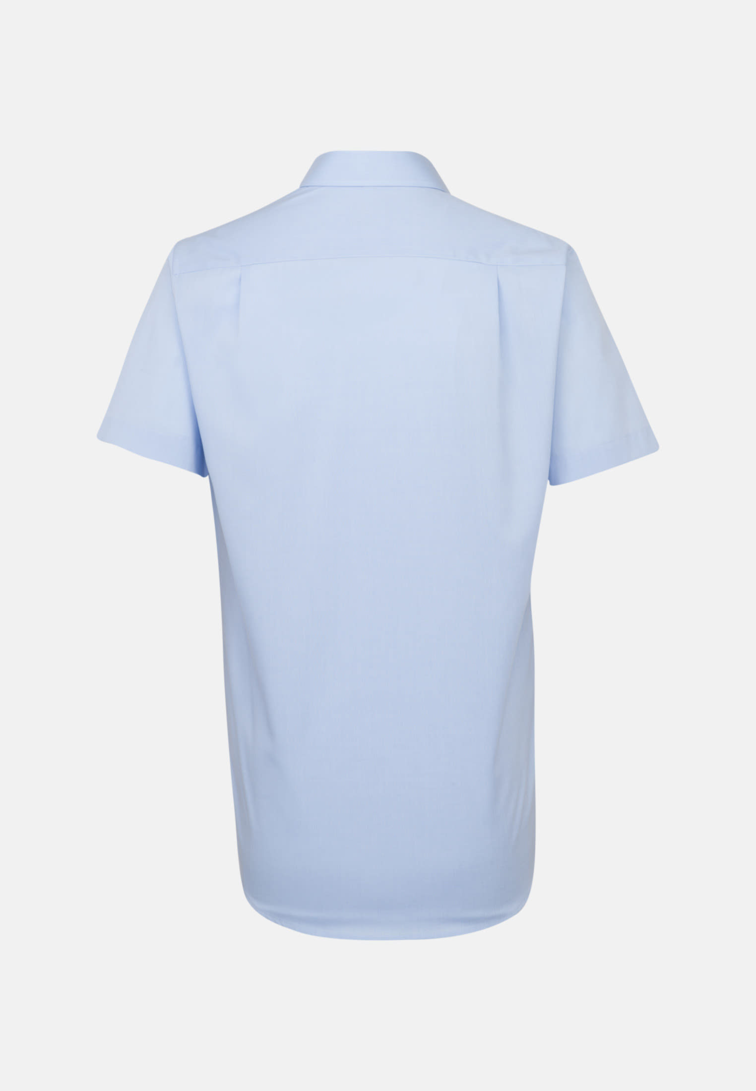 Non-iron Fil a fil Short sleeve Business Shirt in Regular with Kent-Collar in Light blue |  Seidensticker Onlineshop