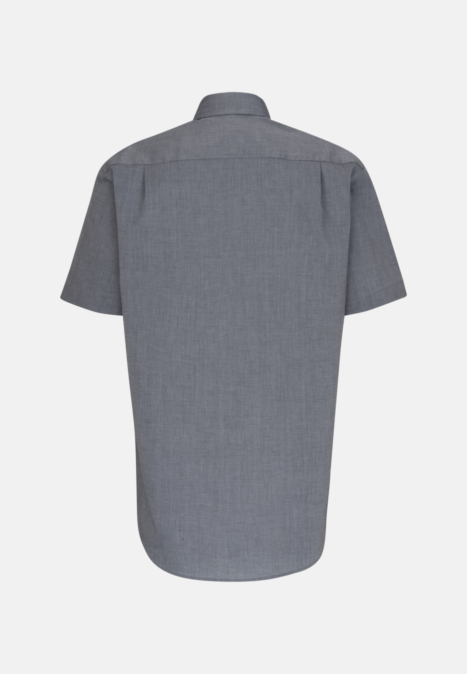 Non-iron Fil a fil Short sleeve Business Shirt in Regular with Kent-Collar in Grey |  Seidensticker Onlineshop