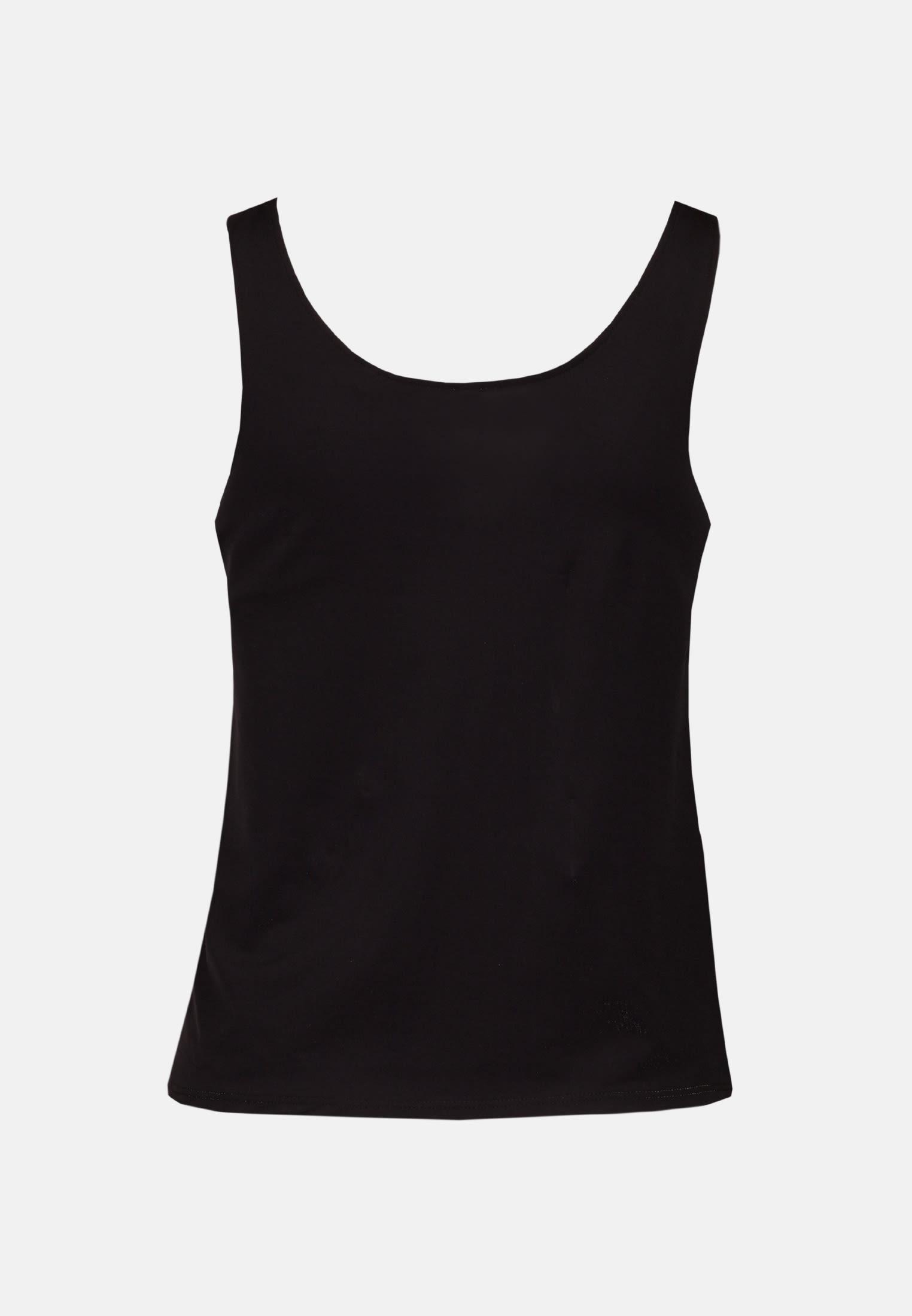 Ärmellose Jersey Top aus Baumwollmischung in Schwarz |  Seidensticker Onlineshop