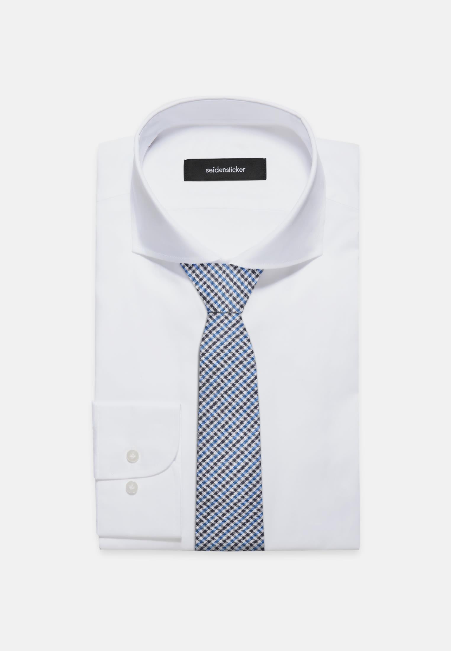 Krawatte aus 100% Seide 7 cm Breit in Türkis/Petrol    Seidensticker Onlineshop