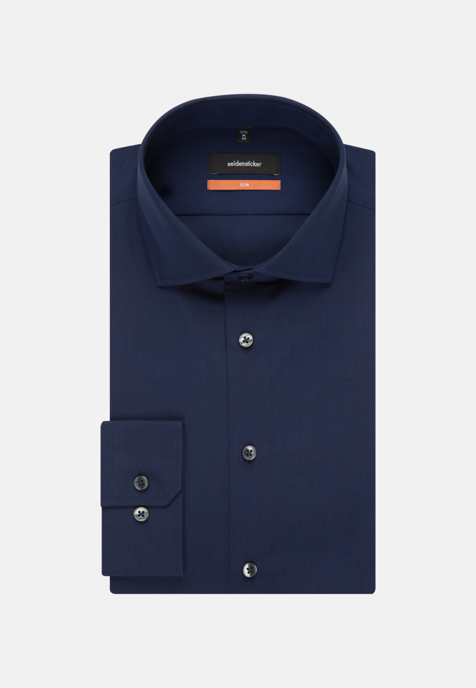 Bügelfreies Fil a fil Business Hemd in Slim mit Kentkragen in Dunkelblau |  Seidensticker Onlineshop
