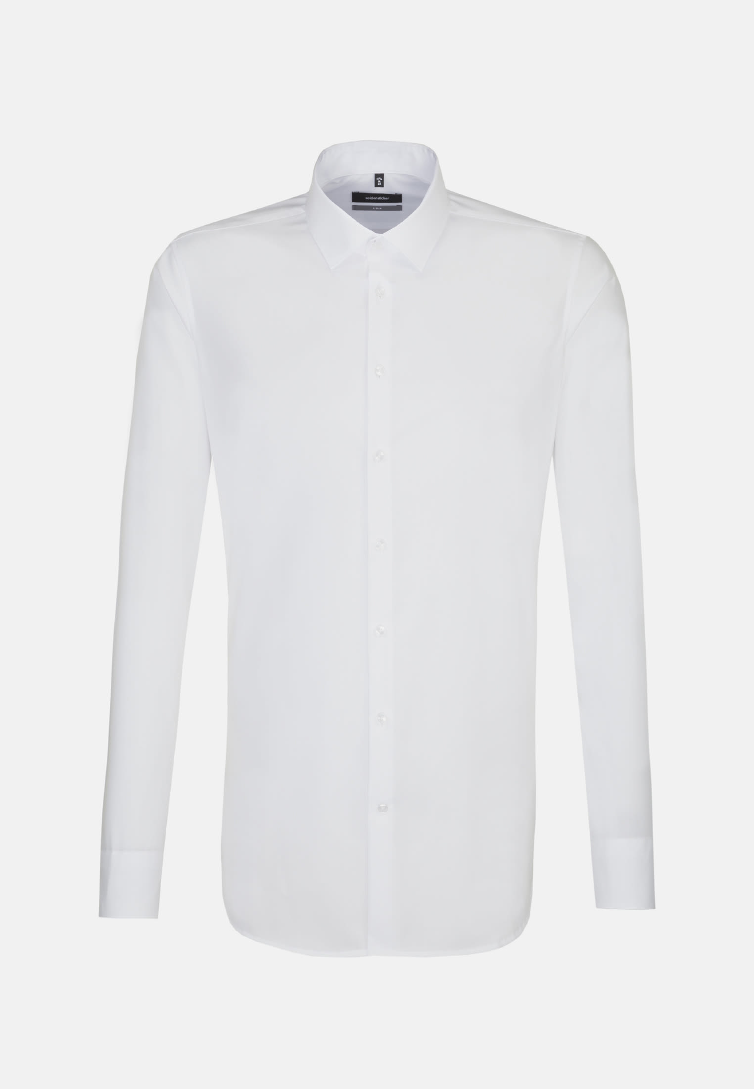 Non-iron Poplin Business Shirt in X-Slim with Kent-Collar and extra long arm in weiß |  Seidensticker Onlineshop