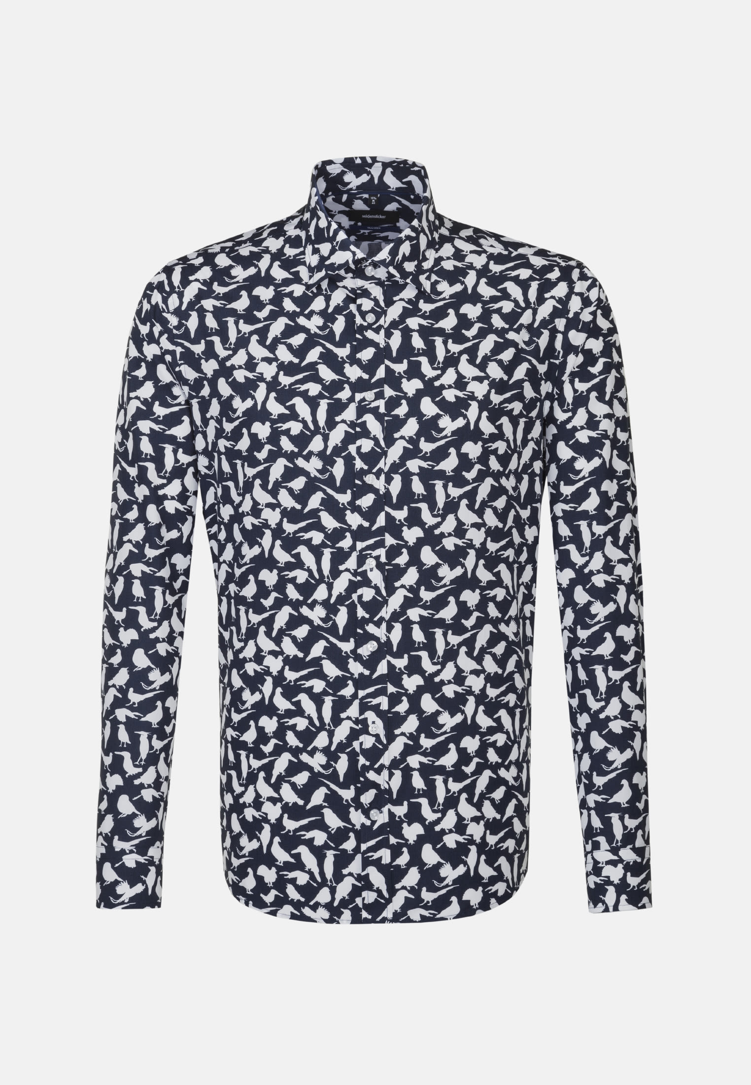 Easy-iron Oxford Business Shirt in Tailored with Covered-Button-Down-Collar in Dark blue |  Seidensticker Onlineshop