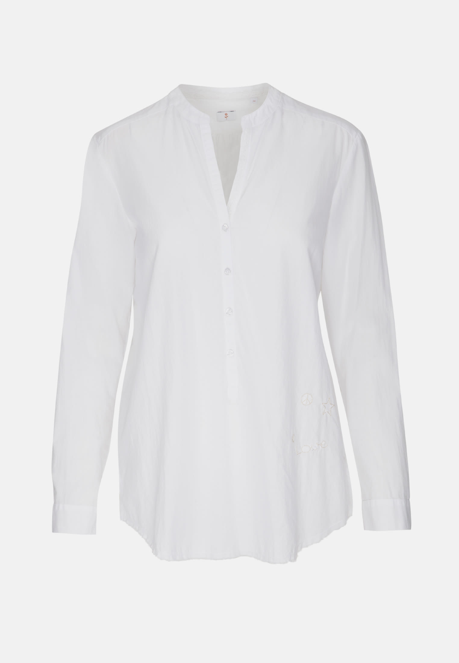 Voile Tunic made of 100% Cotton in White |  Seidensticker Onlineshop