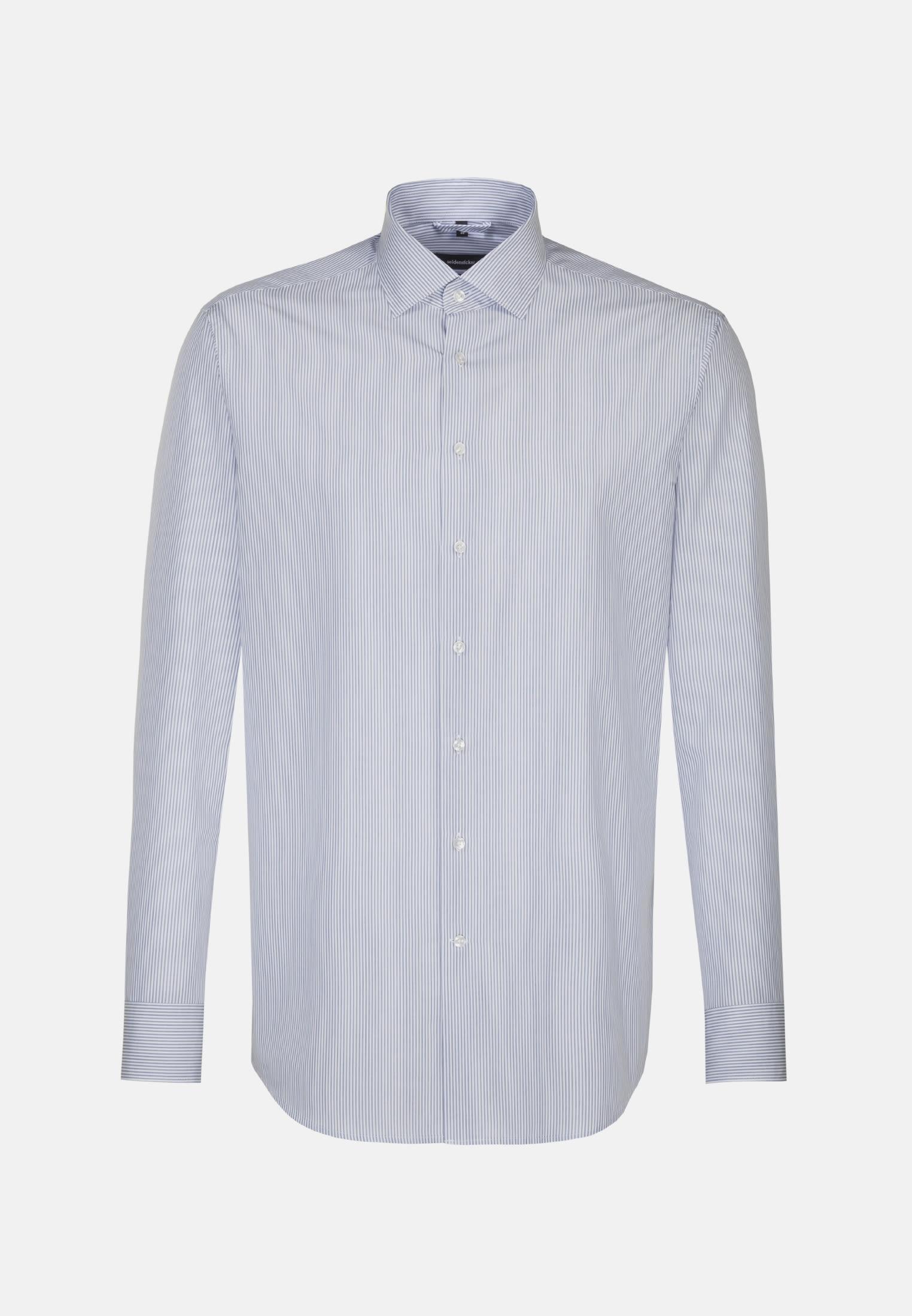 Easy-iron Poplin Business Shirt in Regular with Kent-Collar in Light blue    Seidensticker Onlineshop