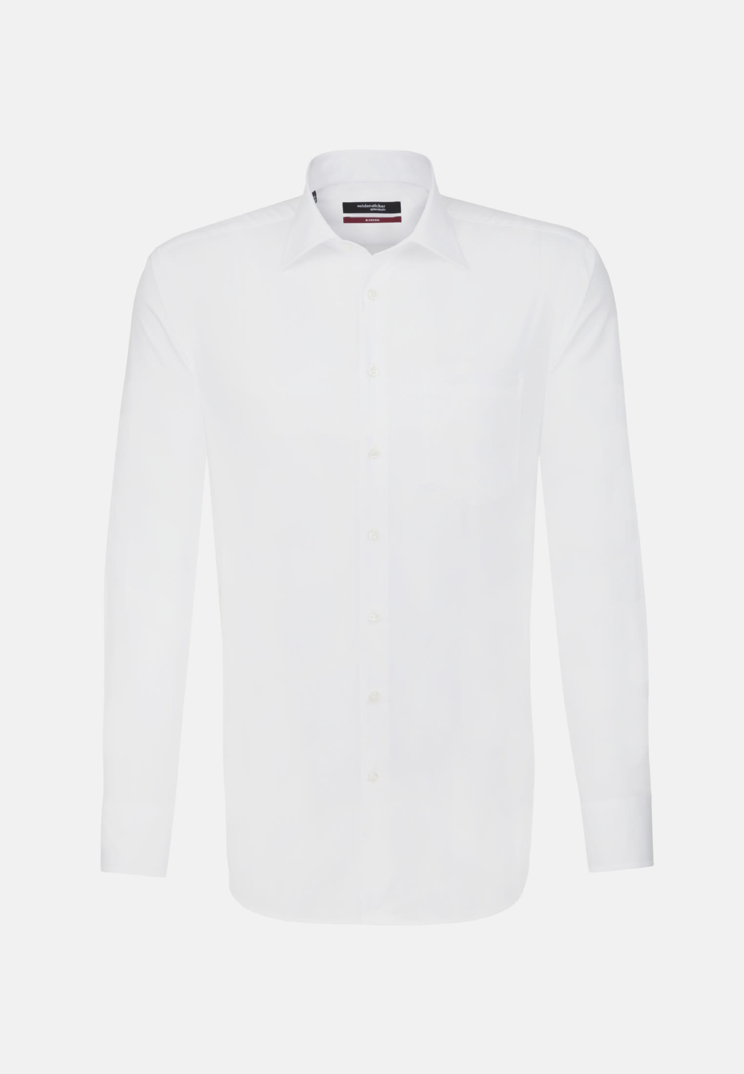 Non-iron Poplin Business Shirt in Modern with Kent-Collar and extra short arm in White |  Seidensticker Onlineshop
